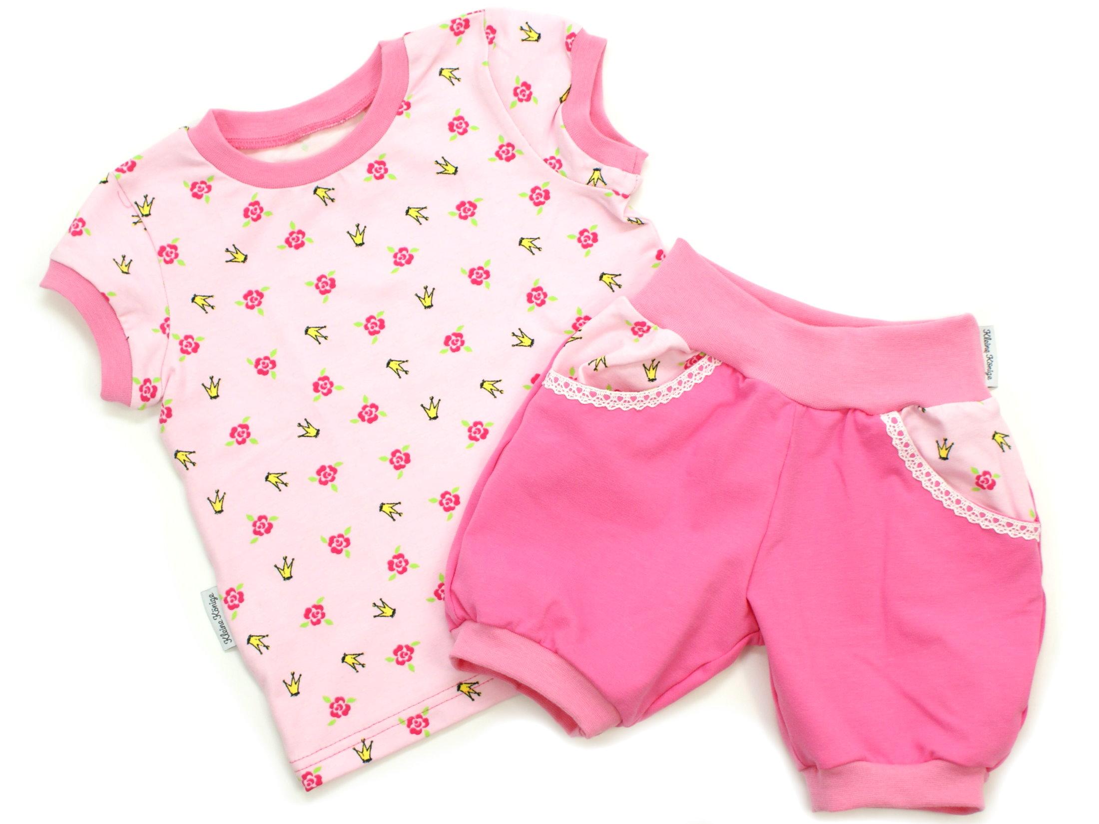 """Kindermütze Blumen """"Krönchen"""" pink rosa"""