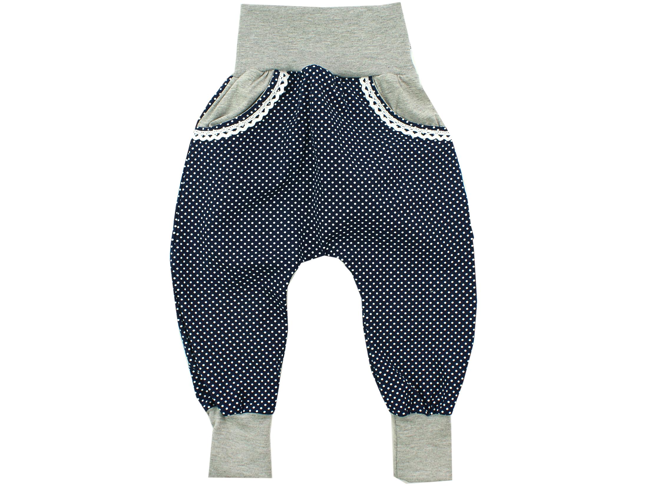 """Pumphose mit Tasche """"Punkte"""" marineblau weiß"""