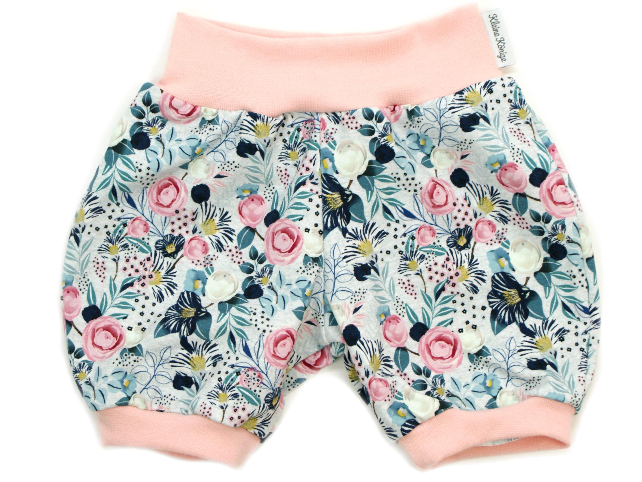 """Kinder Sommer Shorts Blumen """"Charming Flowers"""" mint rosé"""