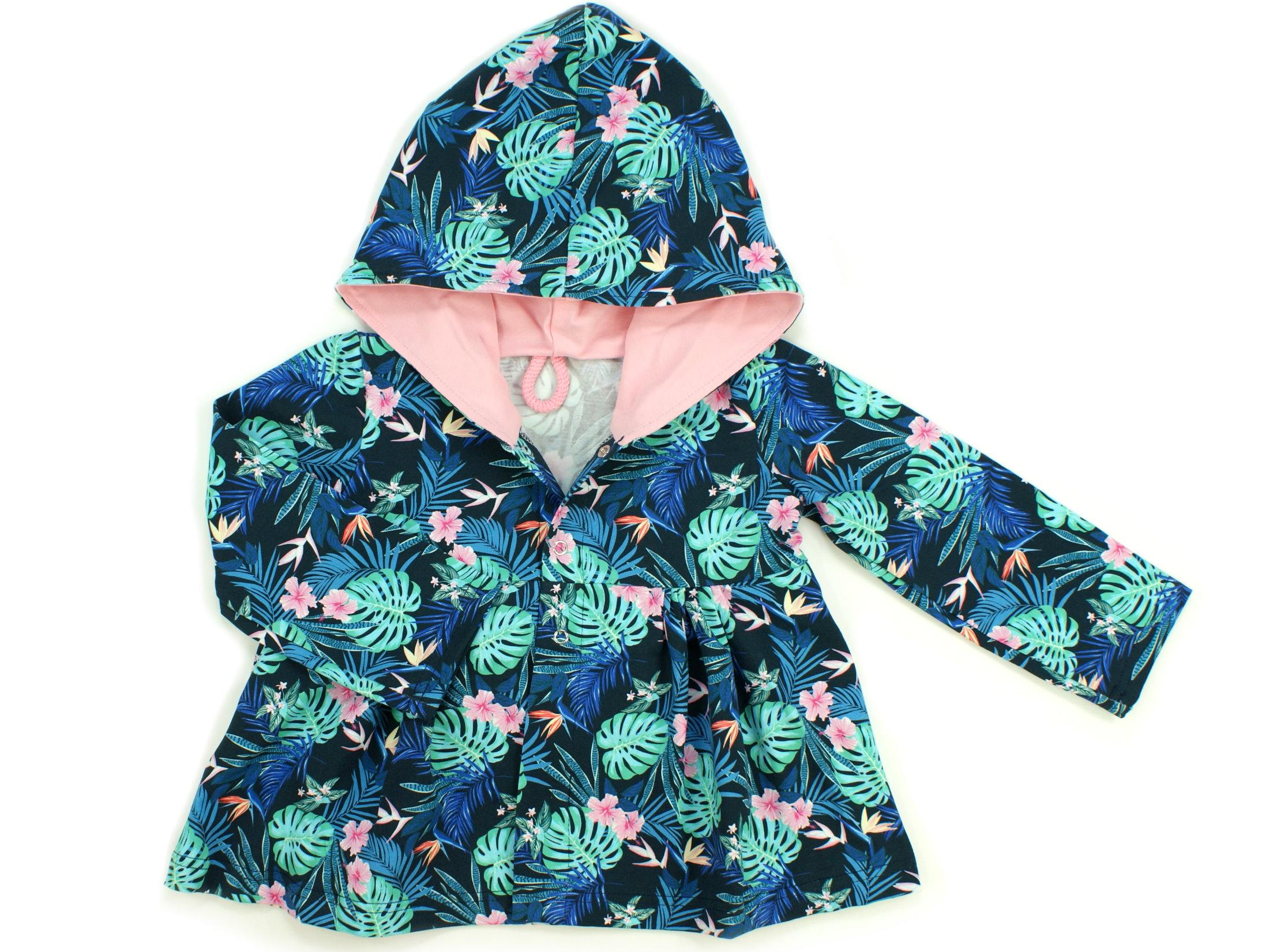 "Kinder Sweatjacke ""Tropic"" marineblau rosa"
