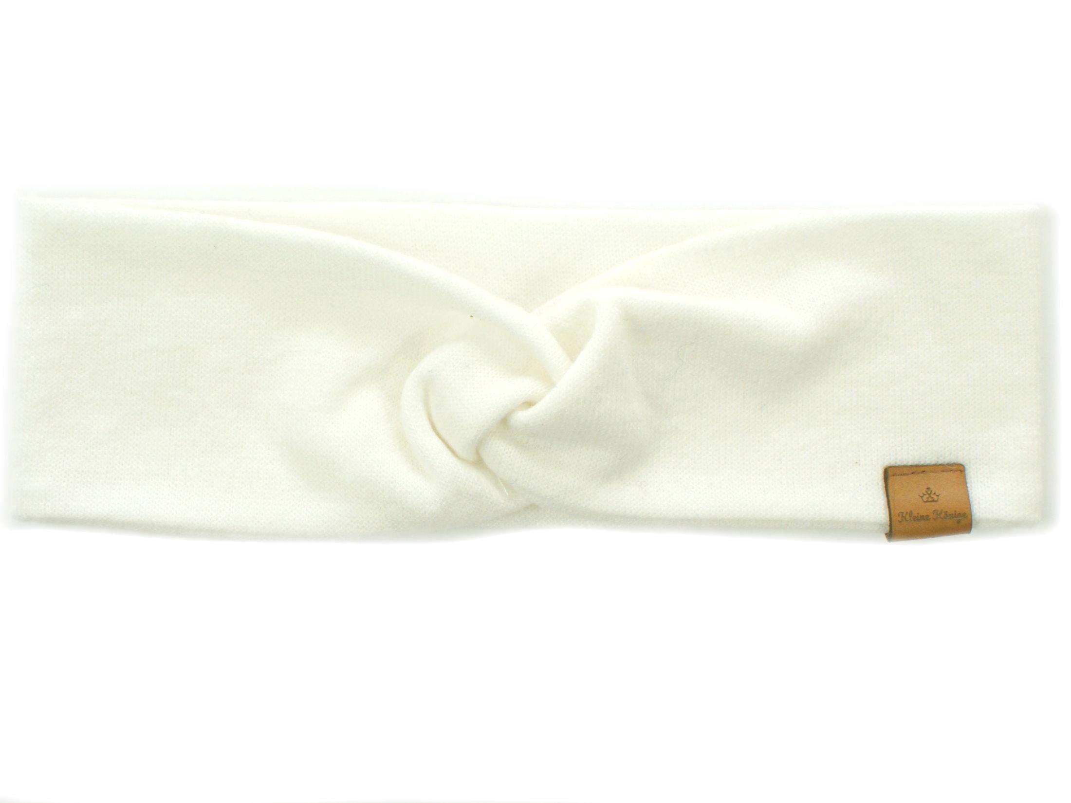 Damen Haarband aus Strickstoff in creme