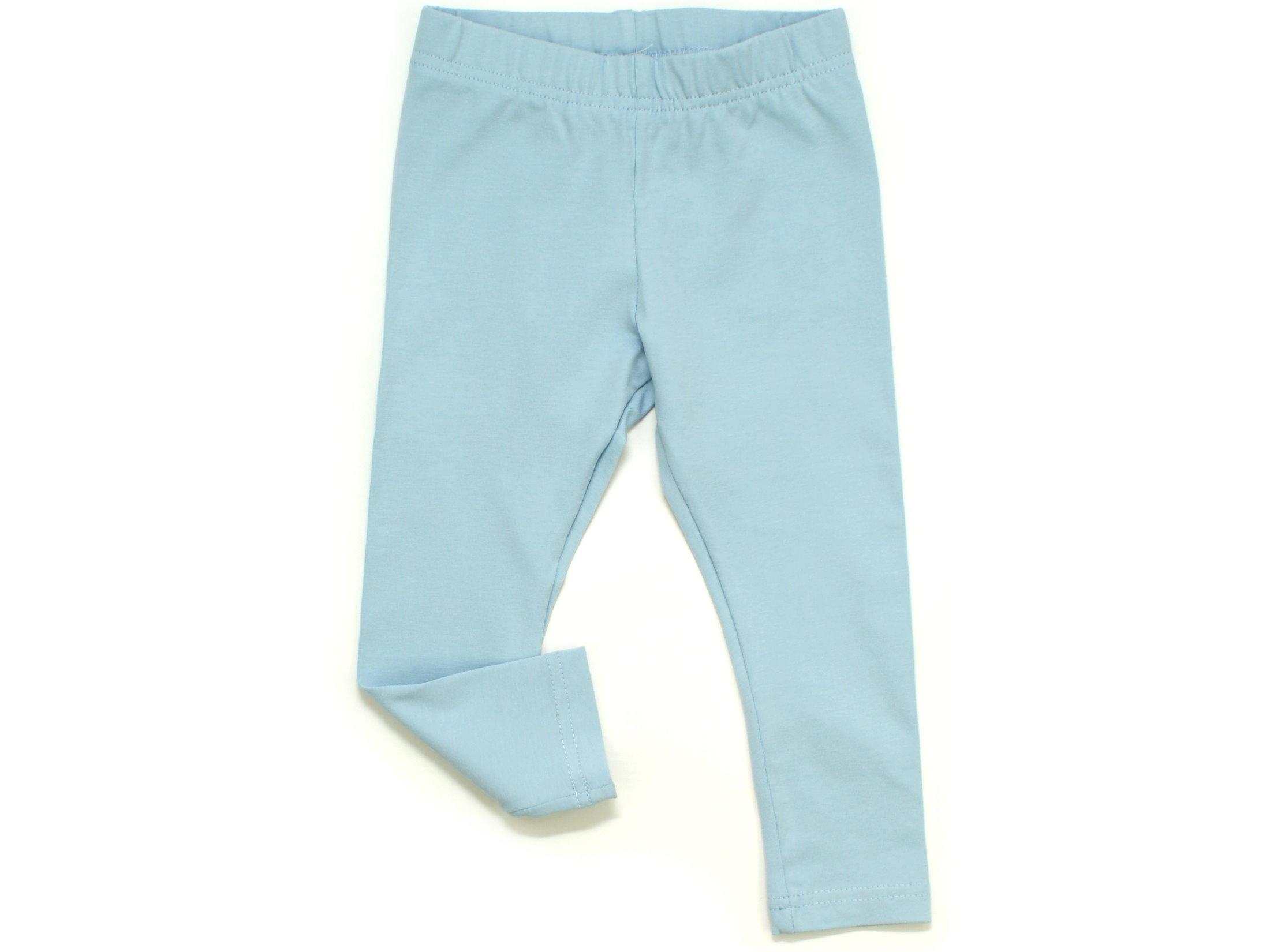 Kinder Leggings uni hellblau
