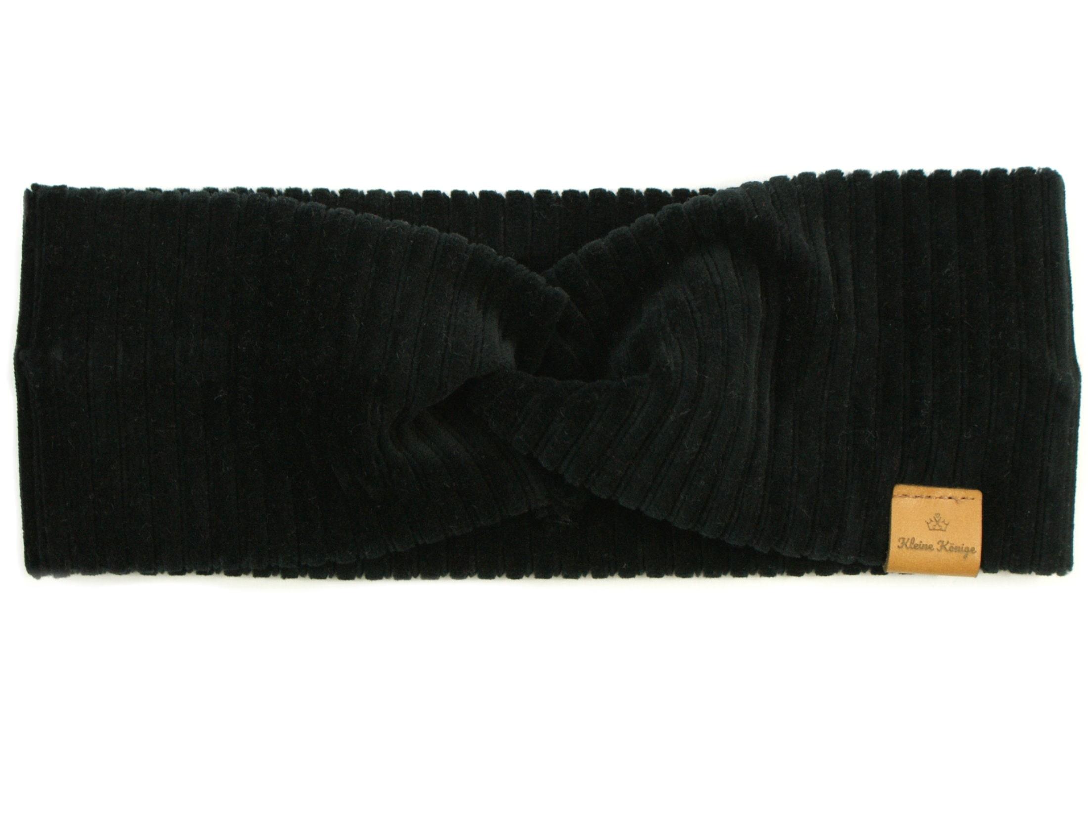 Kinder Haarband Stirnband aus Rippjersey schwarz