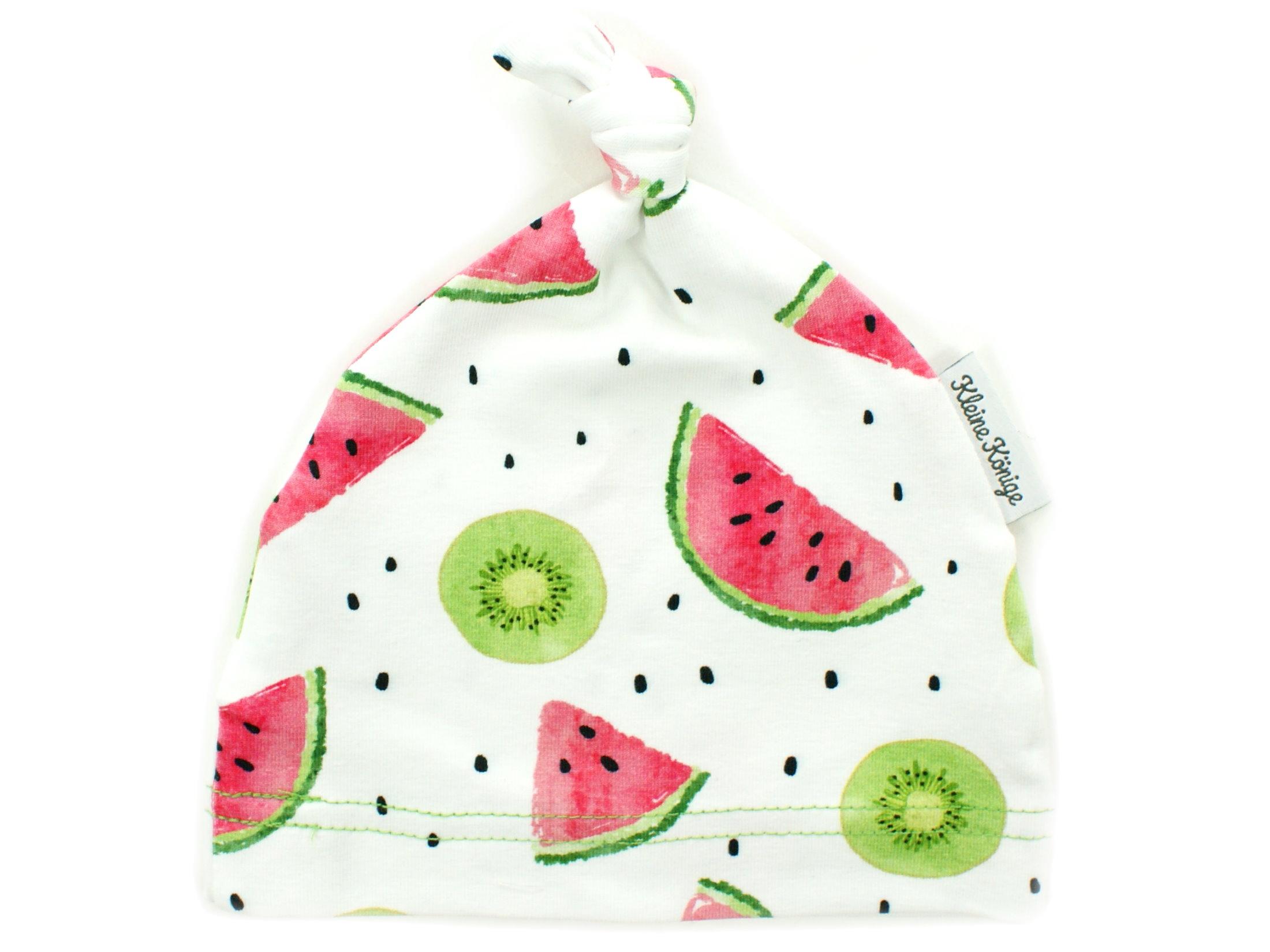 "Babymütze Knotenmütze Kiwi Melone ""Fruity"" lemon"
