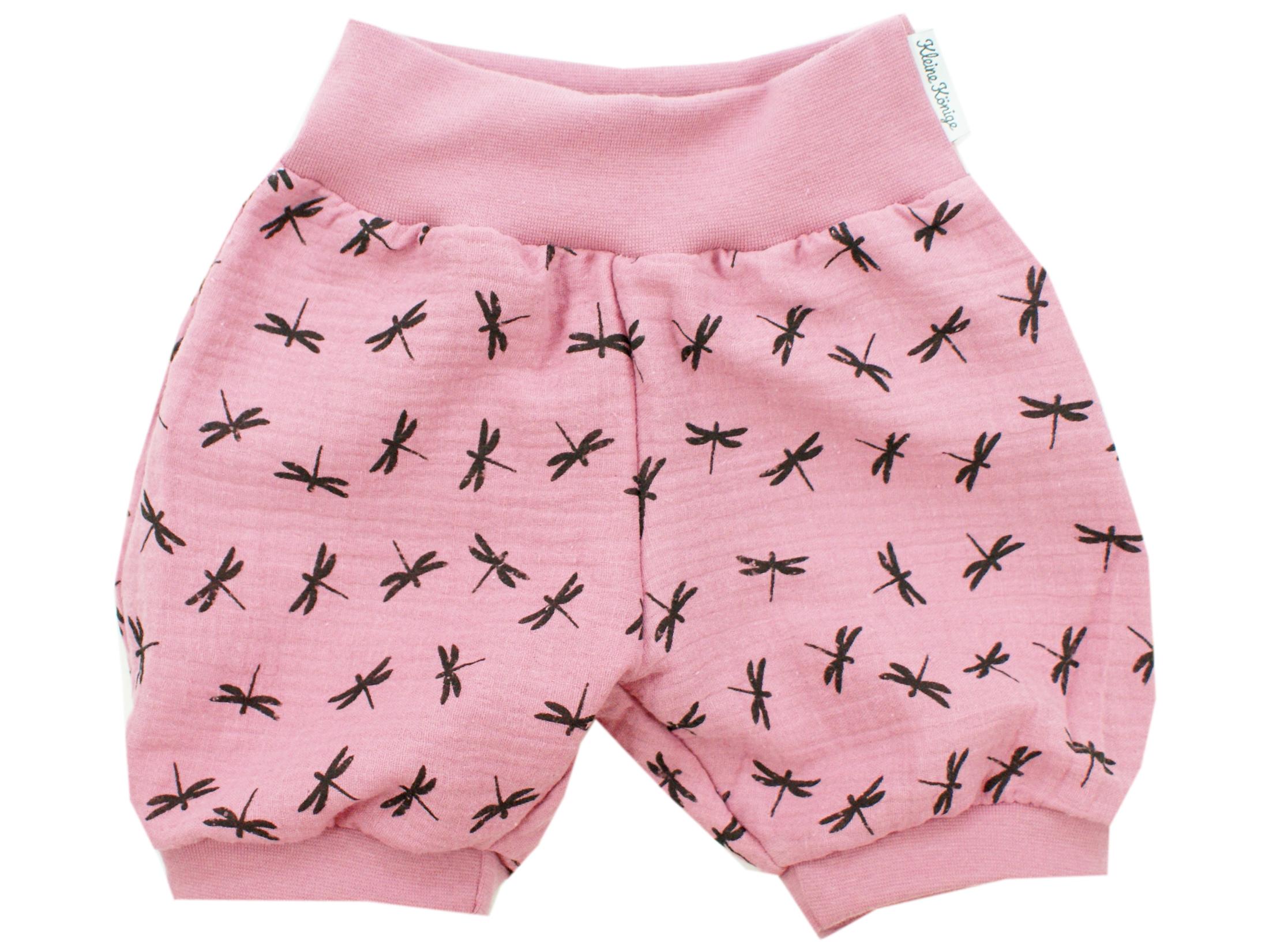 """Musselin Kinder Shorts """"Libellen"""" beere"""