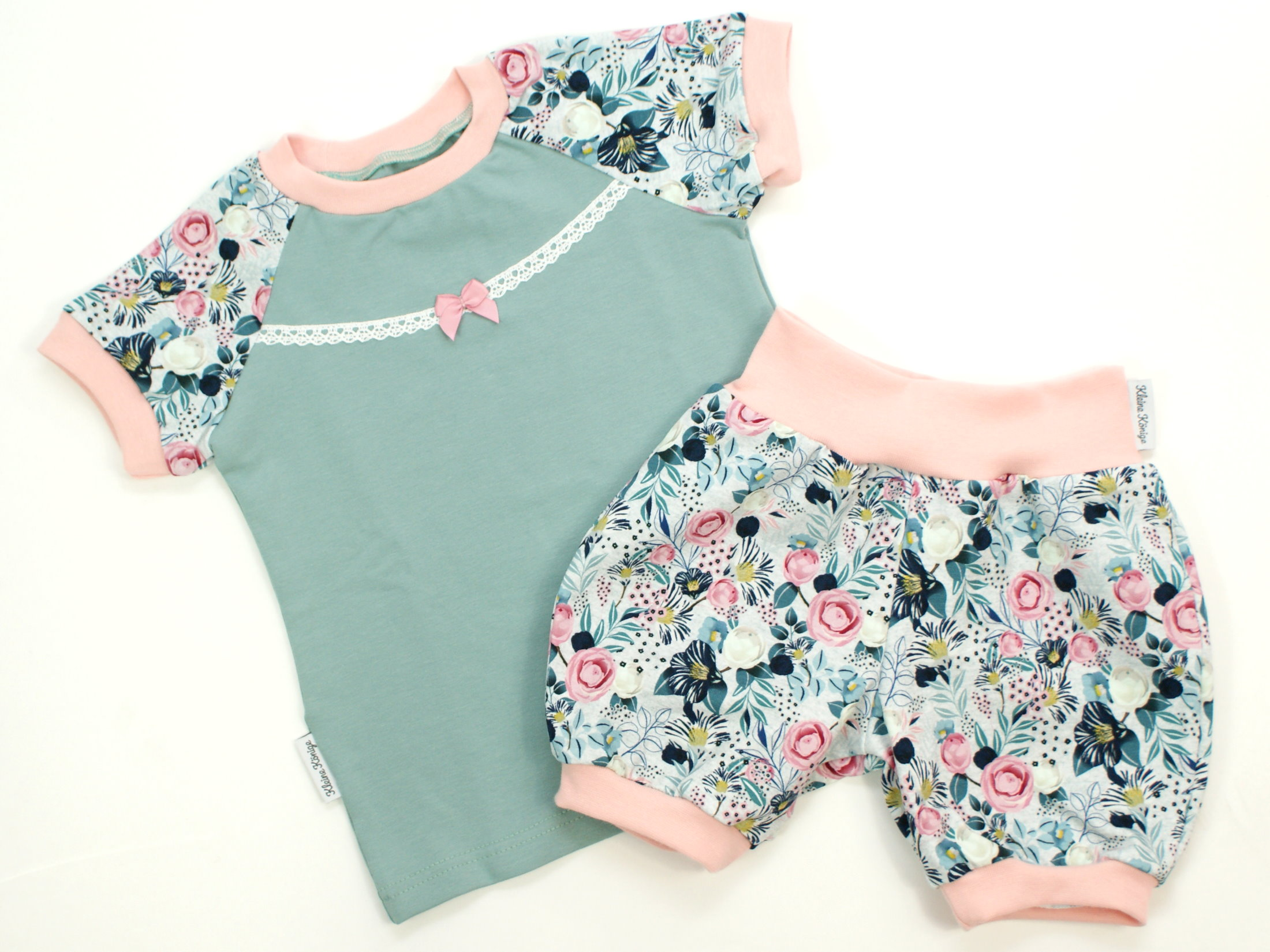 """Kinder T-Shirt Blumen """"Charming Flowers"""" mint rosé"""