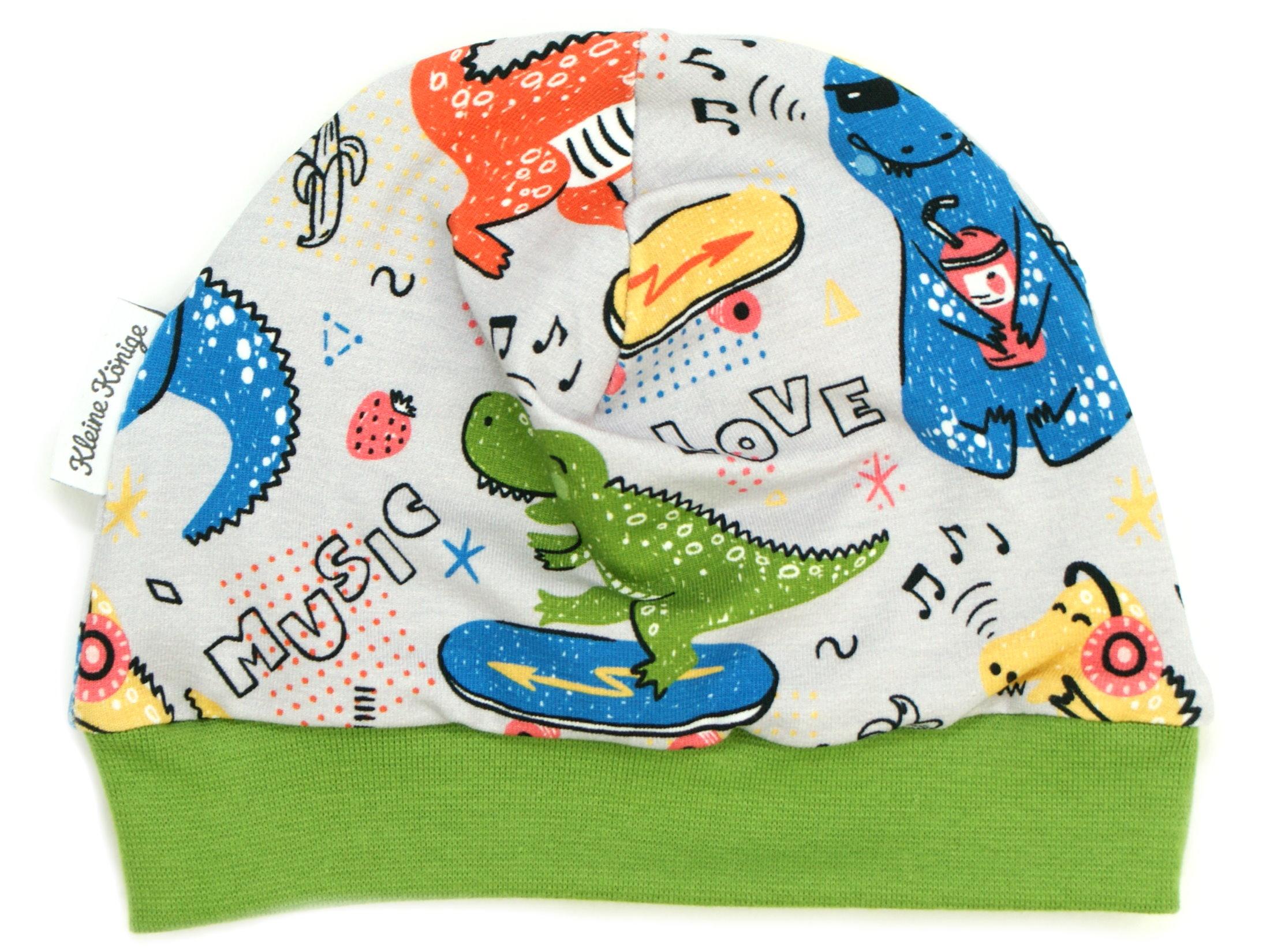 "Kindermütze ""Music Dino"" grün"