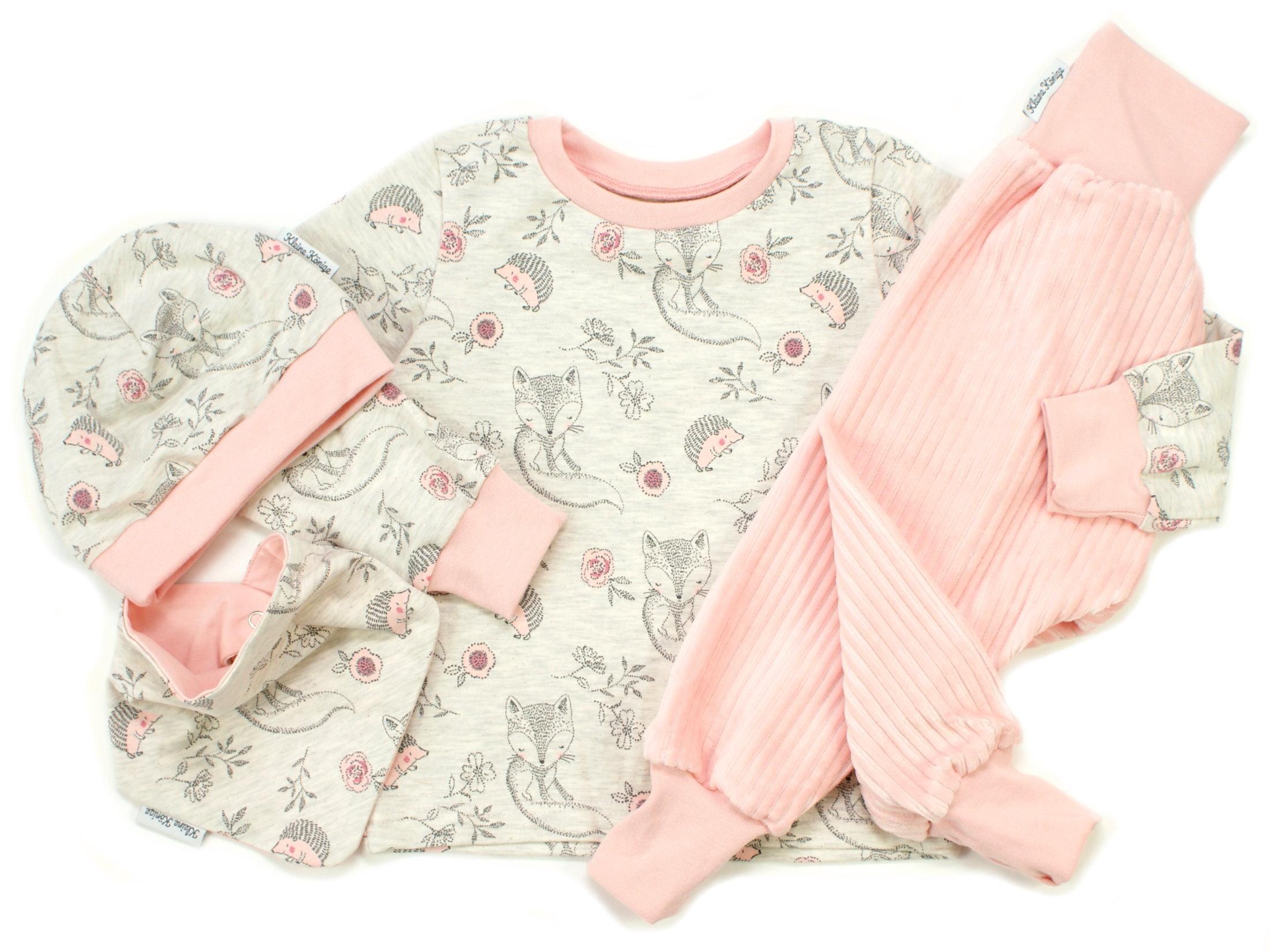 """Baby Wende-Halstuch Igel """"Cutie Pies"""" beige rosé"""