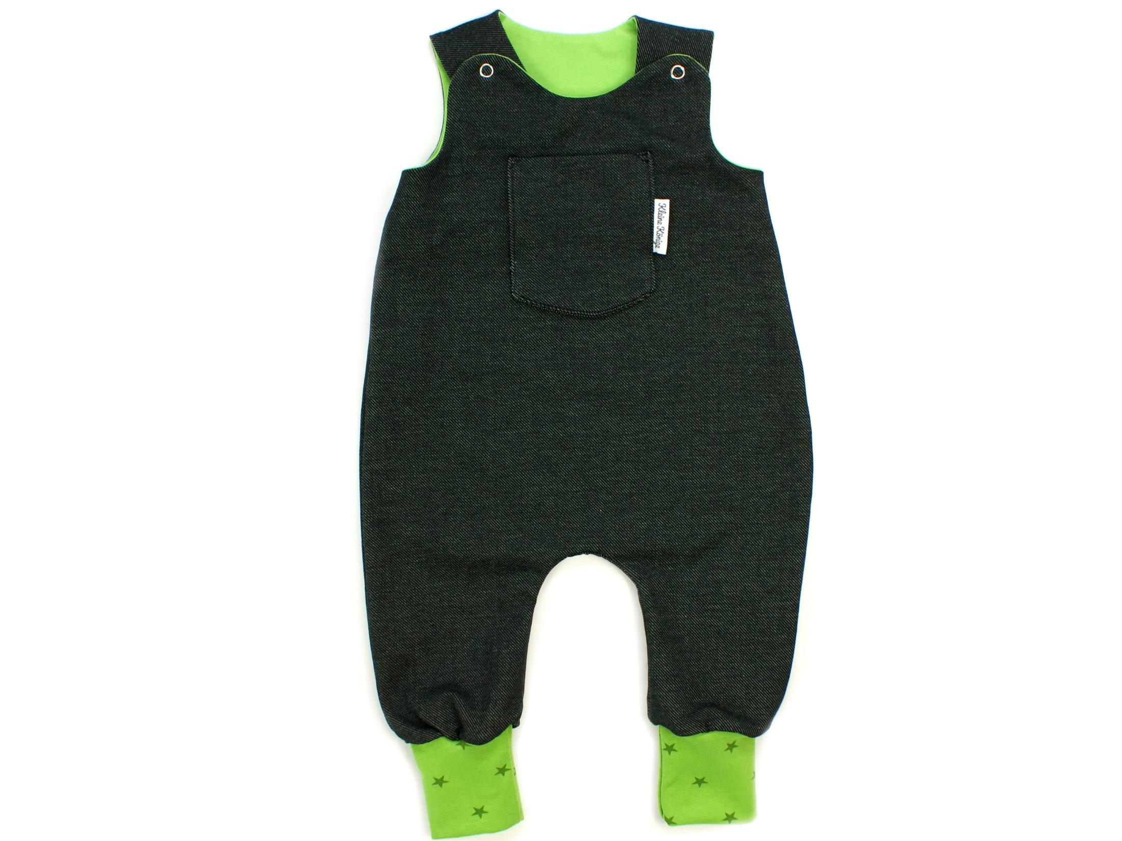 Baby Strampler Jeansjersey schwarz lemon