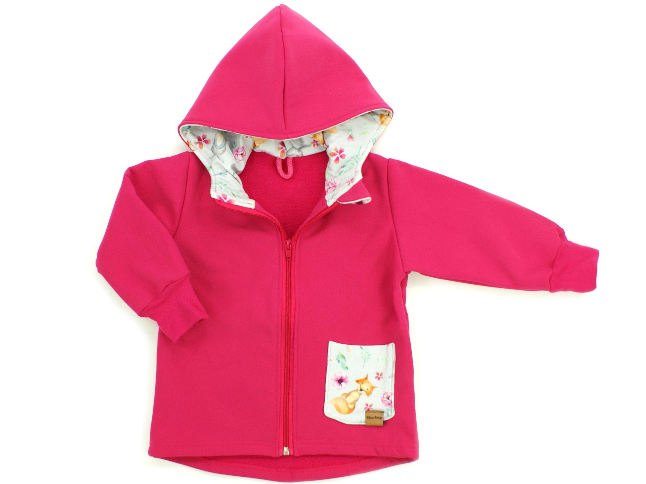 "Kinder Softshell-Jacke ""Uni"" pink"