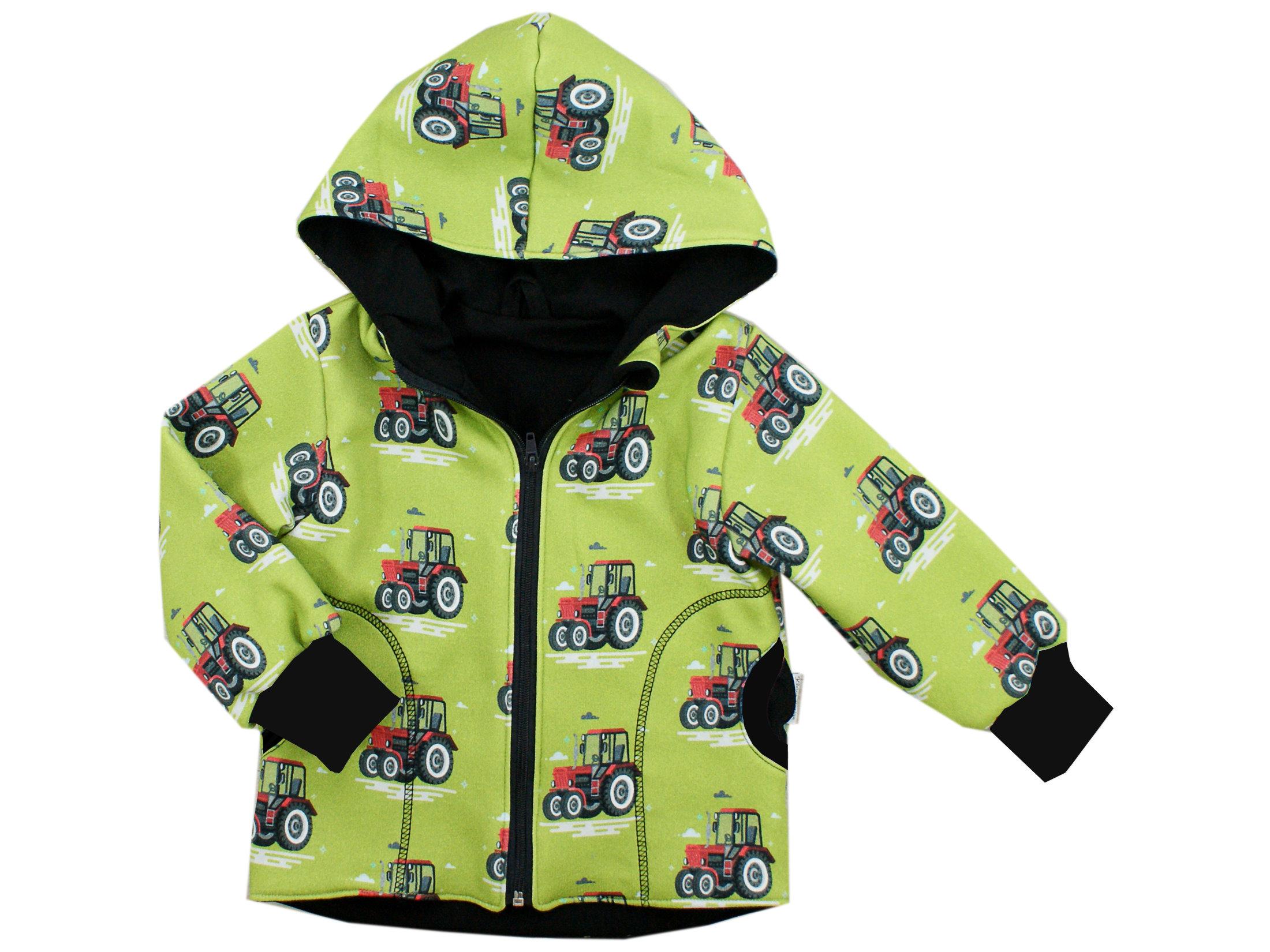 "Kinder Kapuzenjacke Traktor ""Big Trecker"" grün"