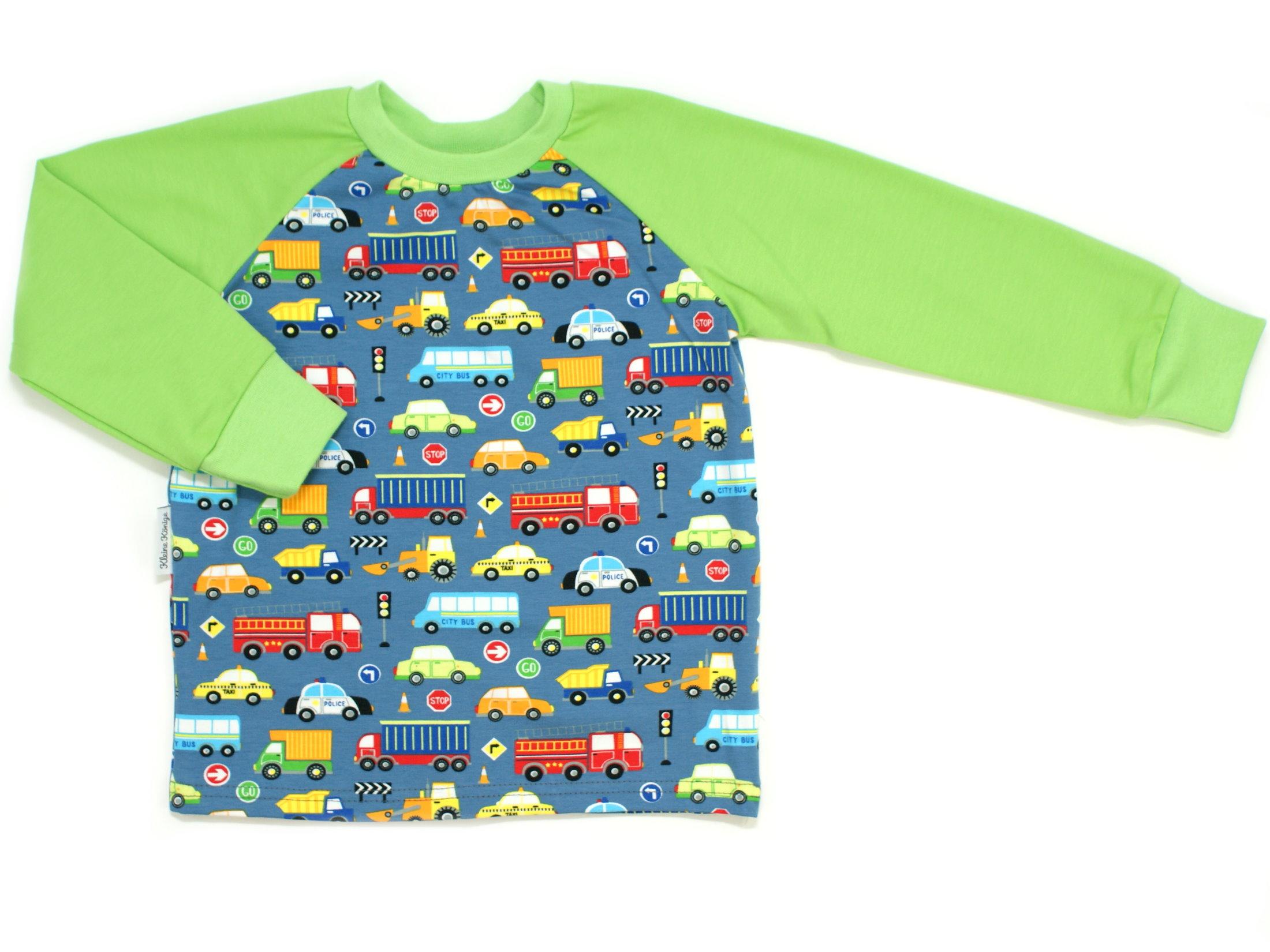 "Kinder Langarmshirt Autos ""Street"" blau lemon"