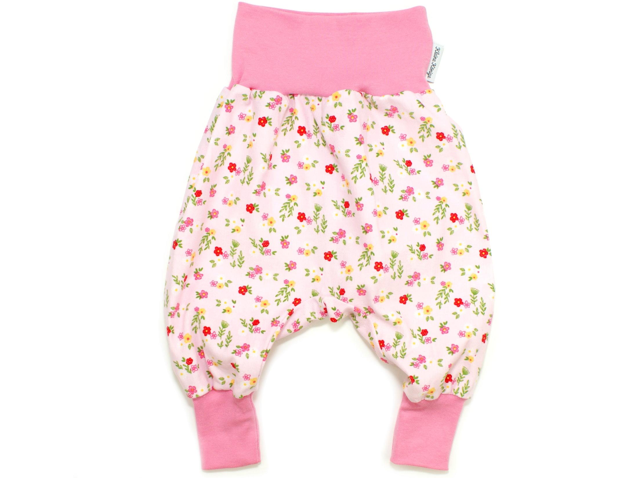 "Baby Pumphose aus Babycord ""Blümchen"" rosa rot"