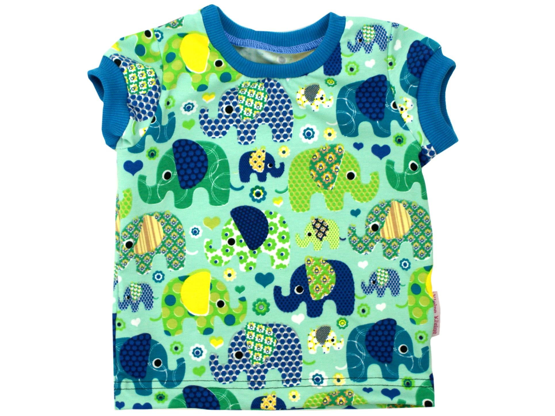 """Kinder T-Shirt """"Elefantenparty"""" türkis"""
