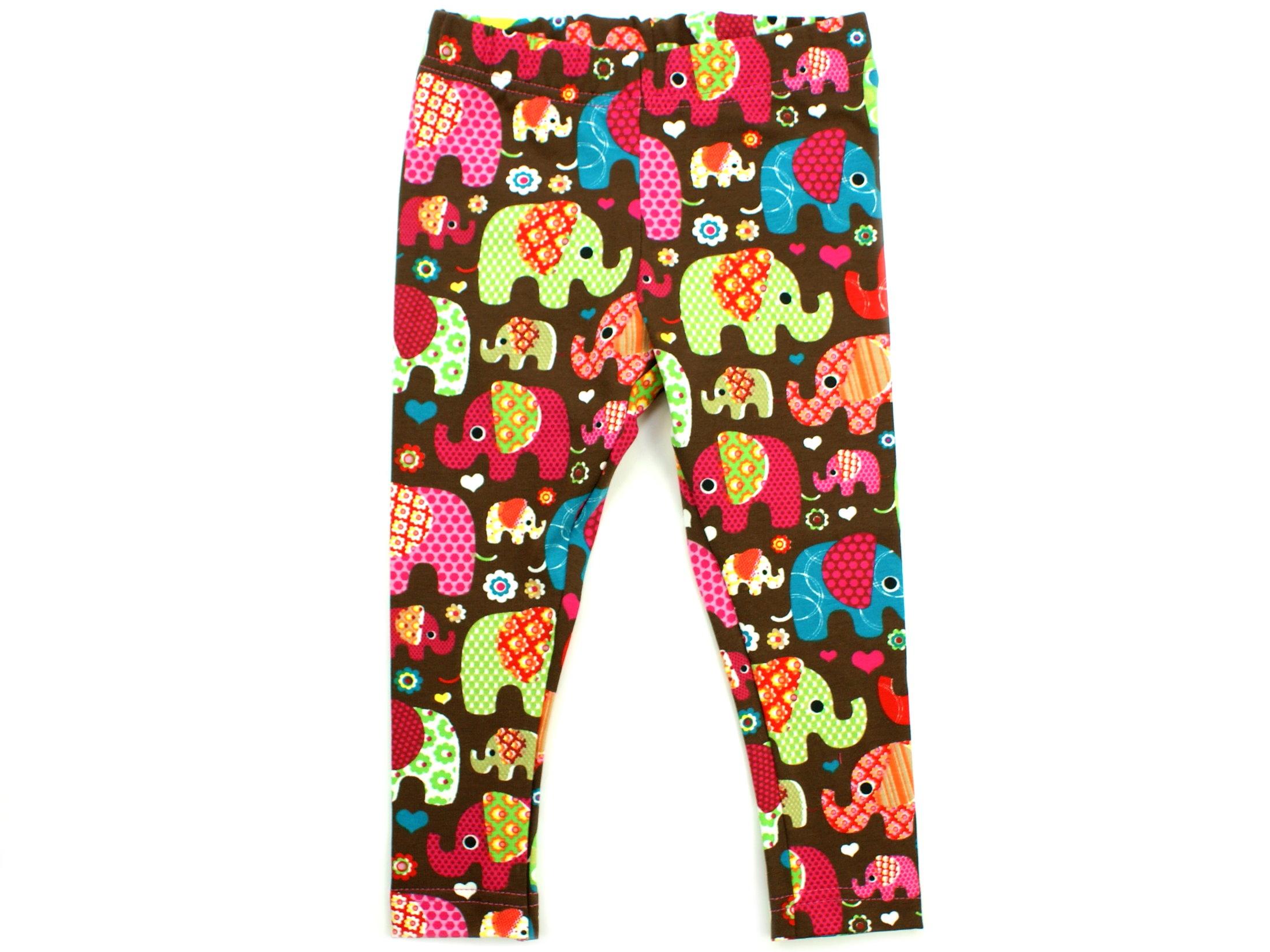 """Kinder Leggings """"Elefantenparty"""" pink braun"""