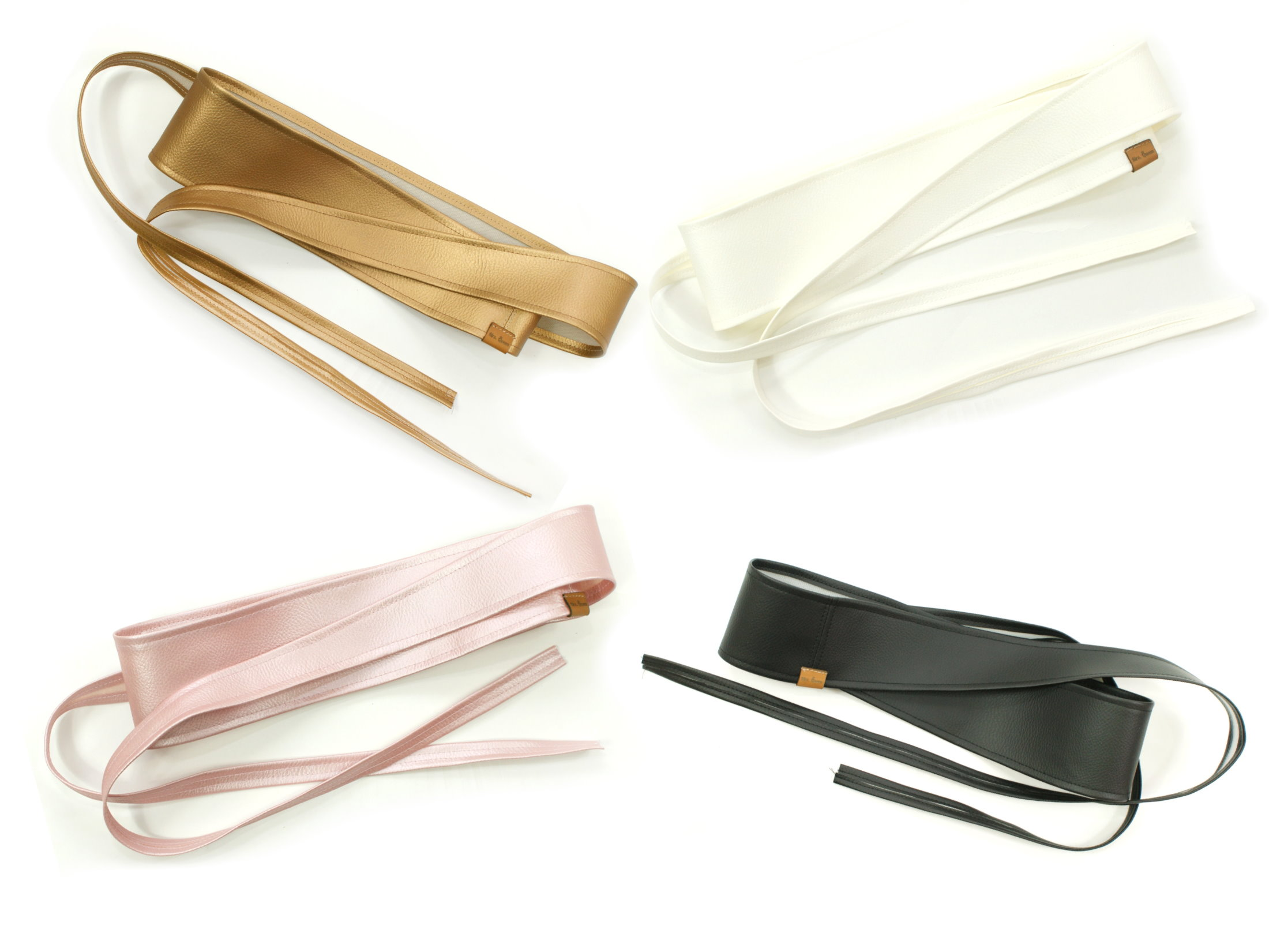 Taillengürtel aus Kunstleder zum Binden in 4 Farben