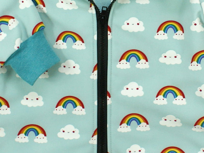 """Kinder Softshell-Jacke """"Rainbow"""" mint"""