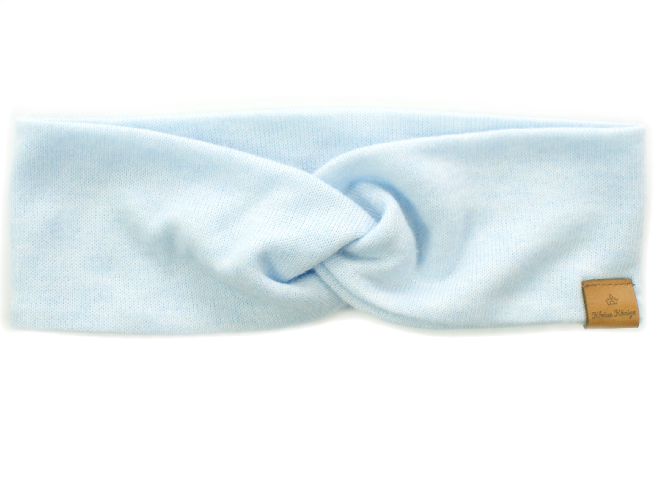 Damen Haarband aus Strickstoff in hellblau