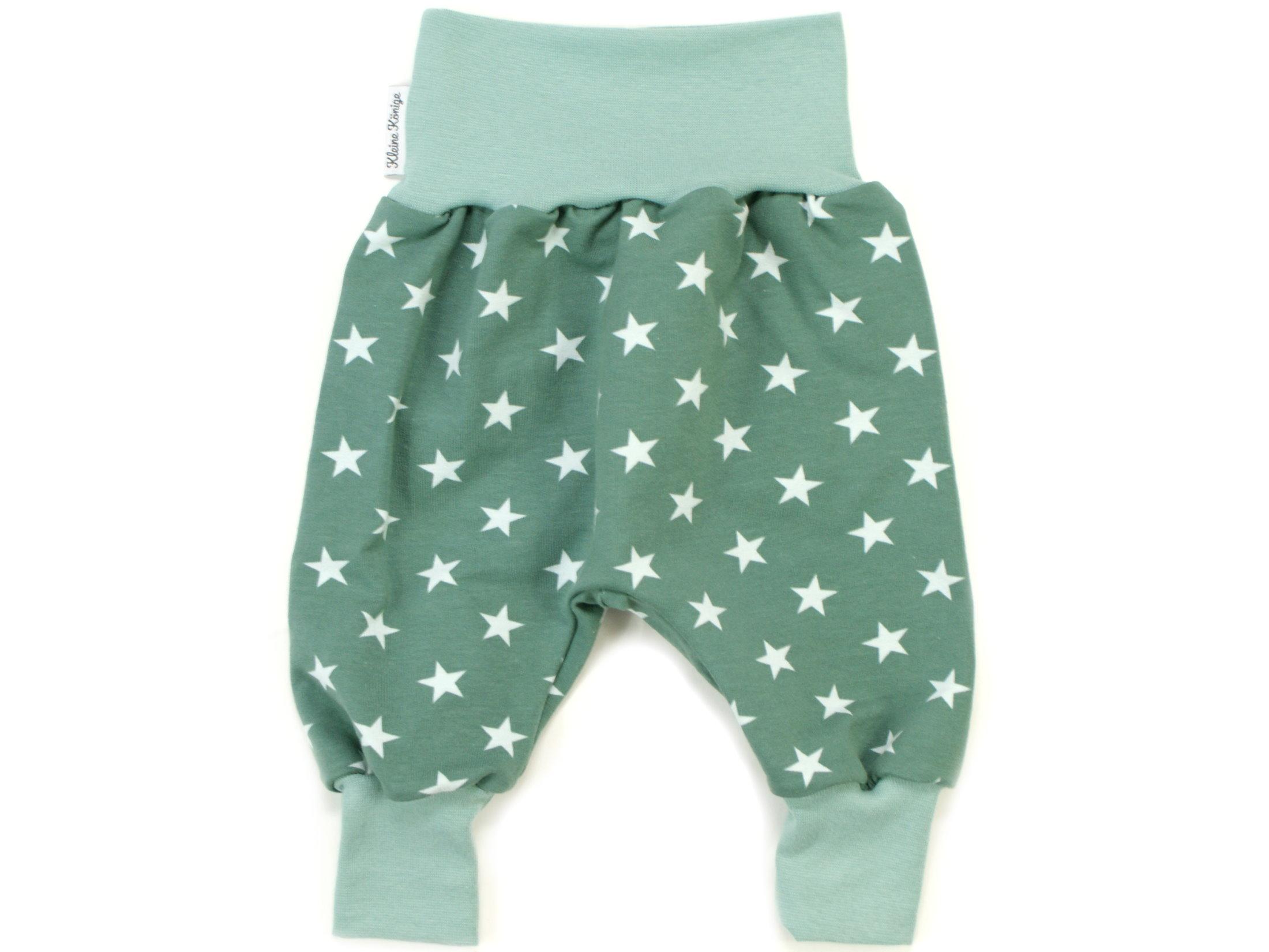 "Baby Pumphose Babyhose ""Sterne"" mint aqua"