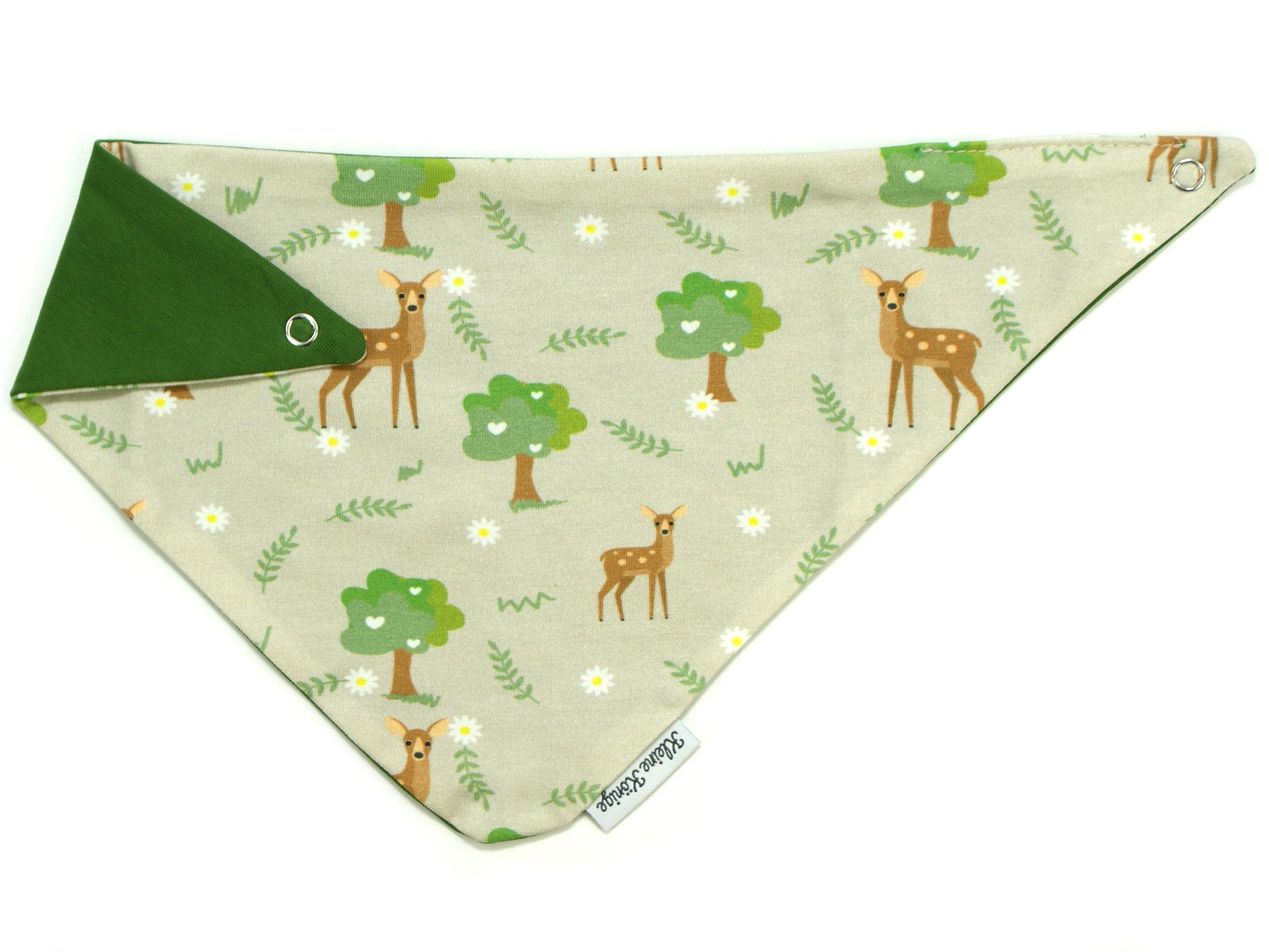 """Baby Wende-Halstuch Reh """"Lovely Wood"""" beige grün"""