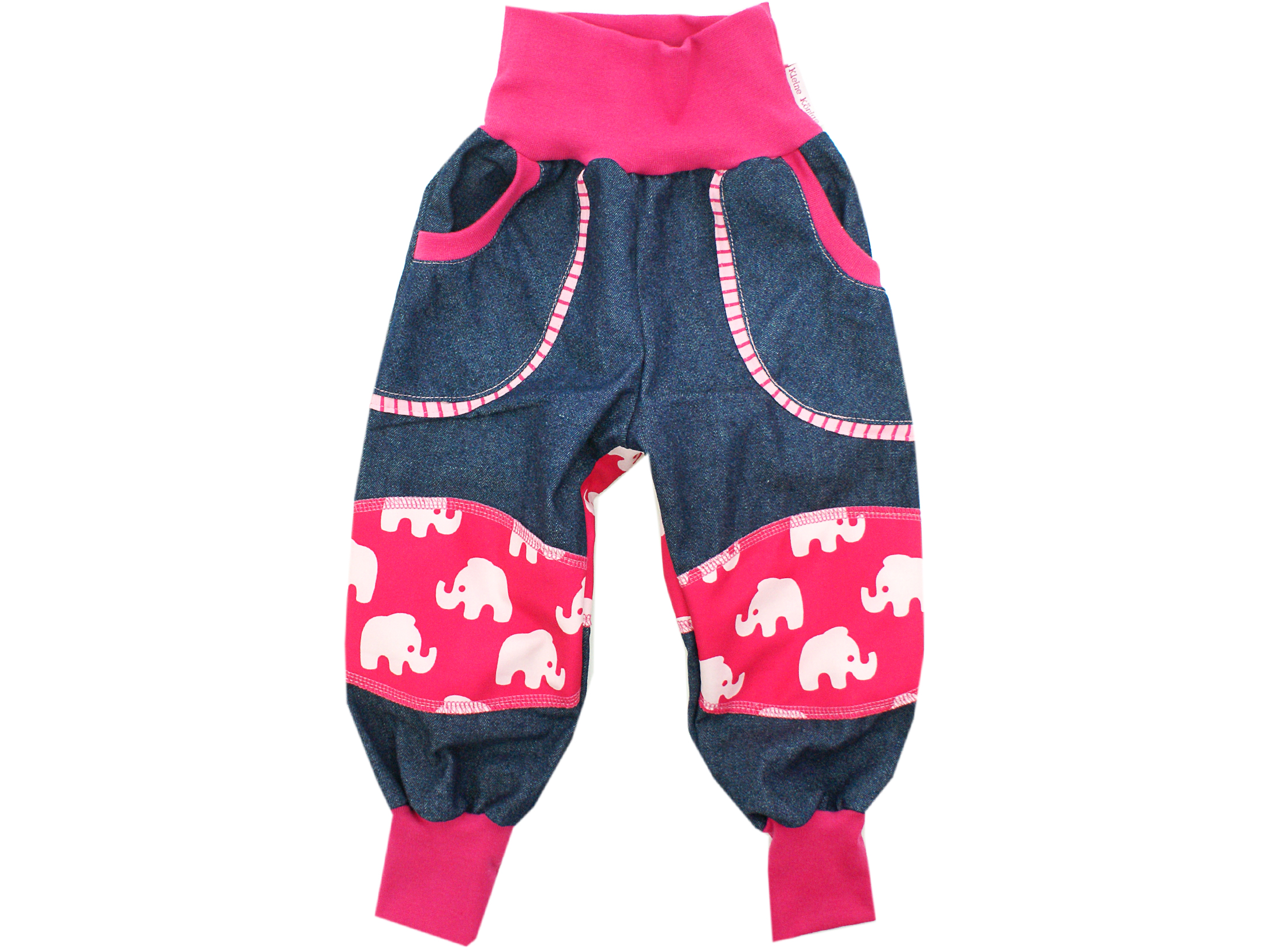 "Kinder Outdoorhose Jeans Räuberhose ""Elefanten"" pink"