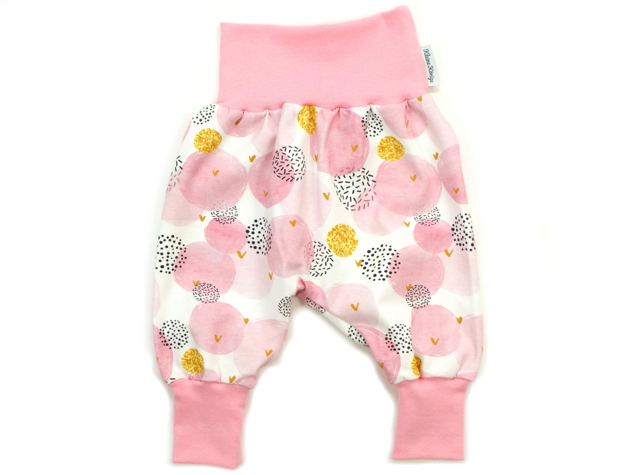 "Baby Pumphose Punkte ""Glitter Dots"" rosa gold"