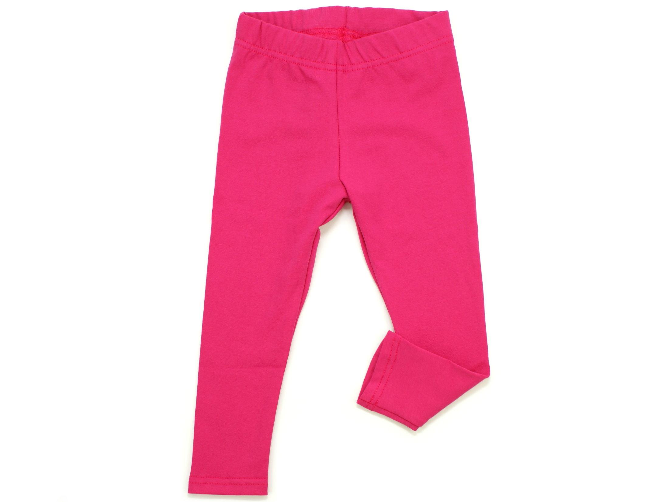 Kinder Leggings uni pink