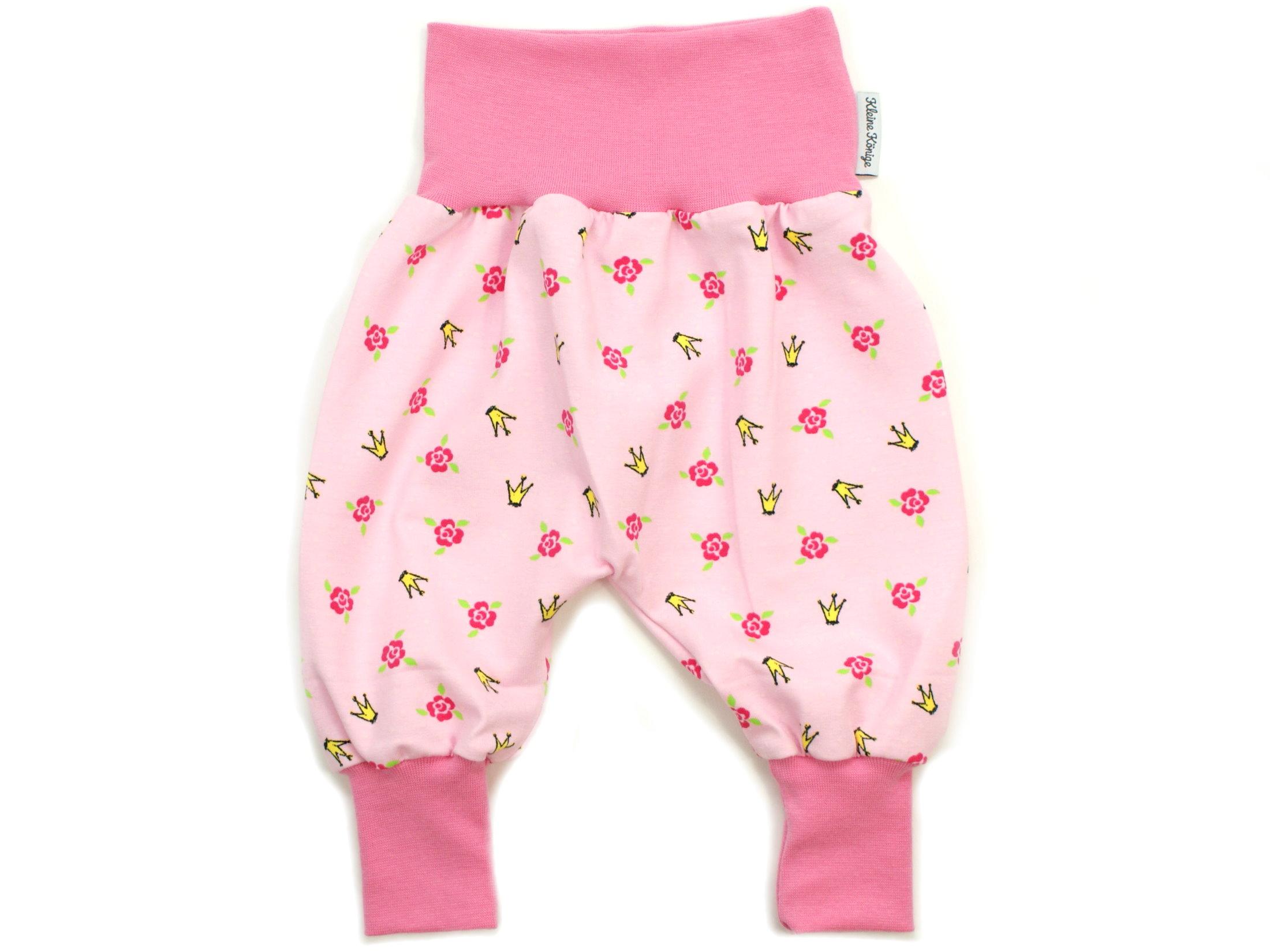 """Baby Pumphose Blumen """"Krönchen"""" pink rosa"""