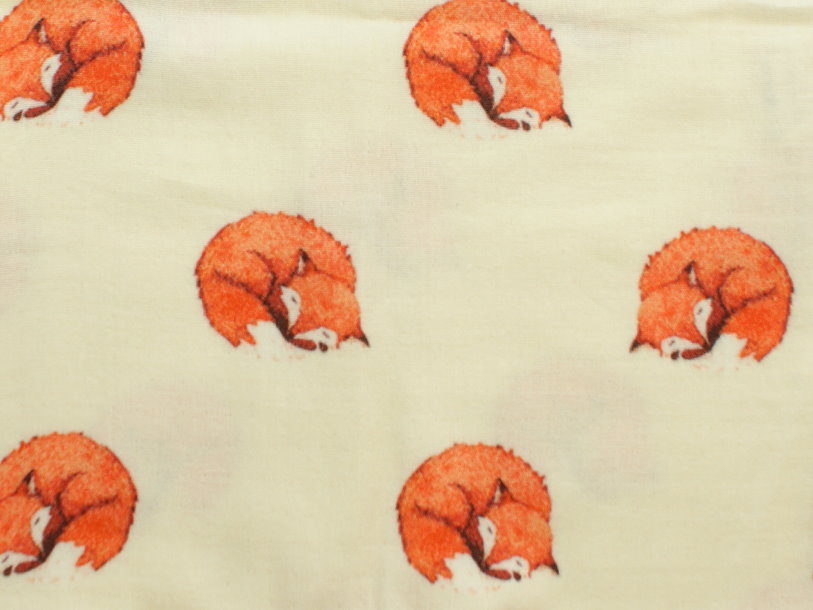 "Musselin Kinder Shorts ""Fuchs"" hellgelb orange"