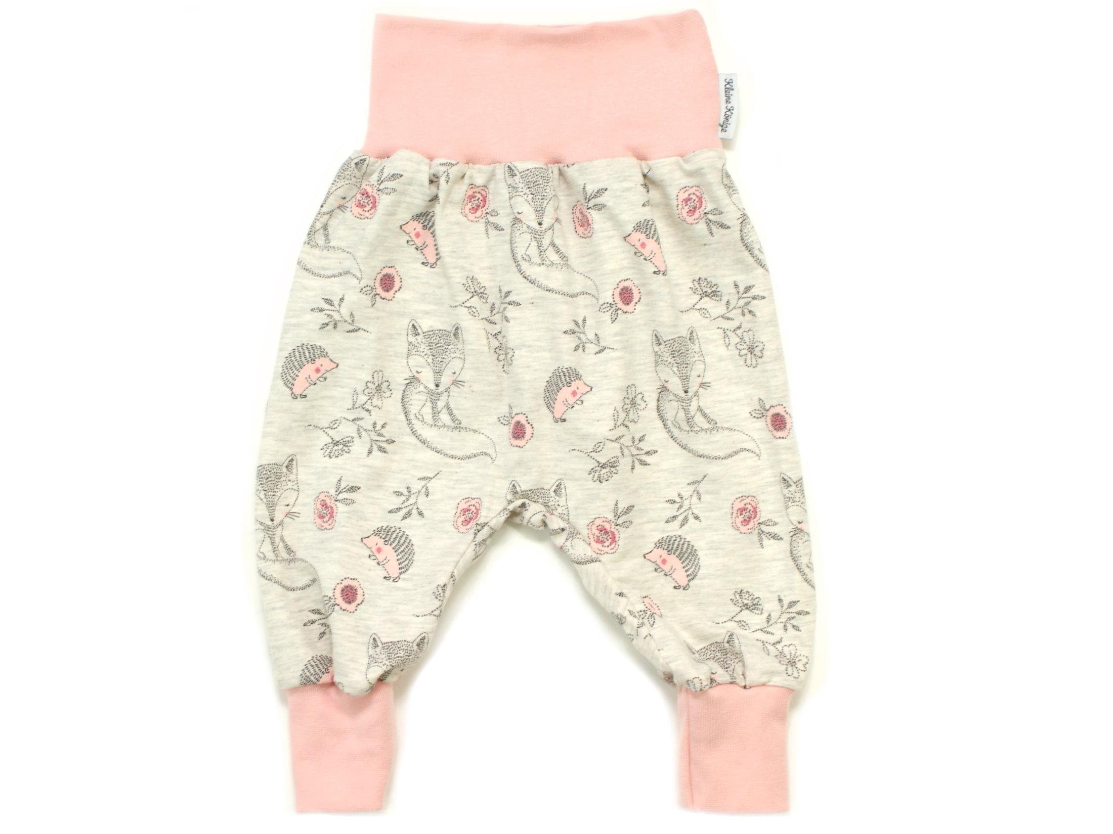 "Baby Pumphose Igel ""Cutie Pies"" beige rosé"