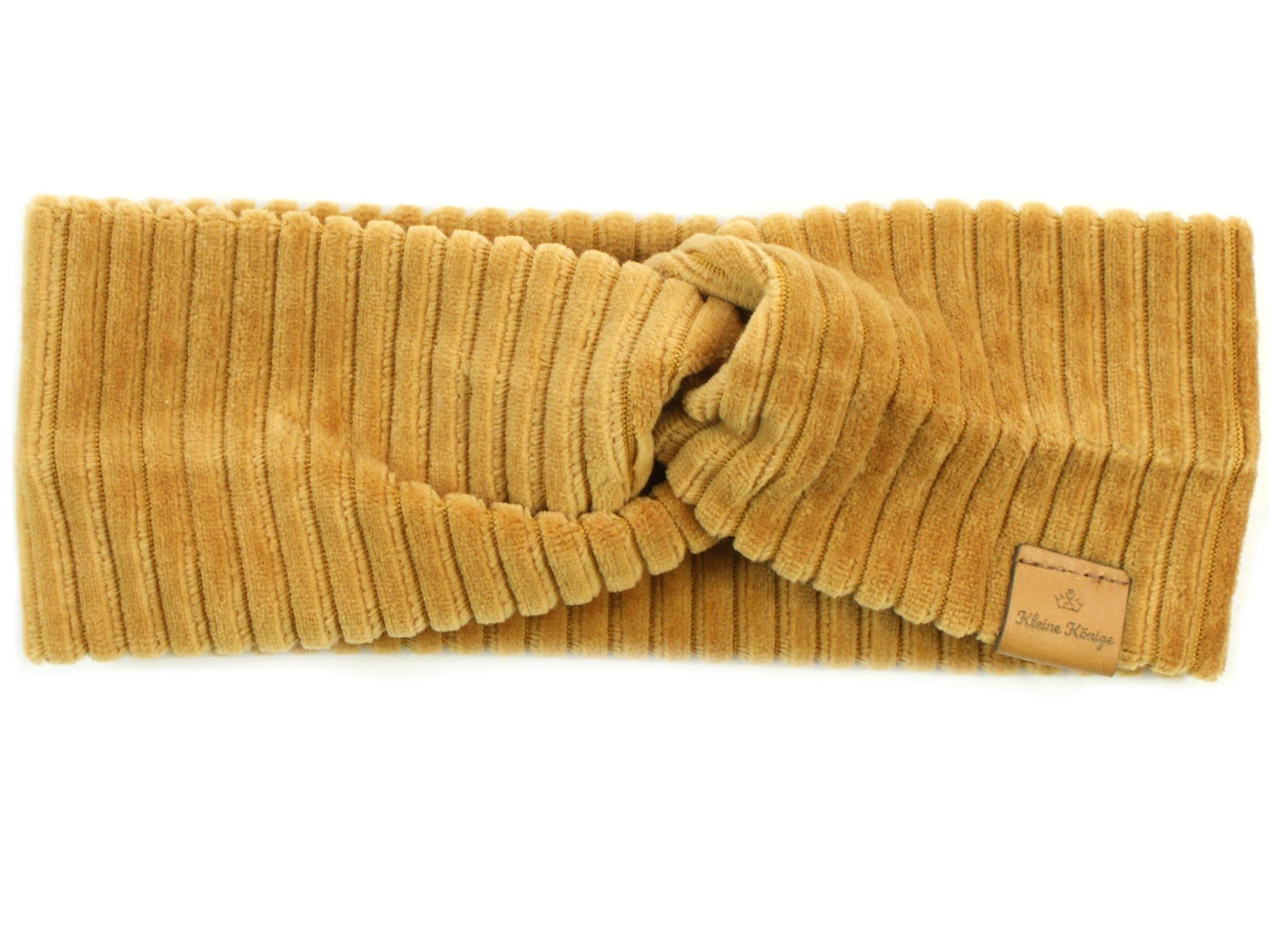 Kinder Haarband Stirnband aus Rippjersey camel