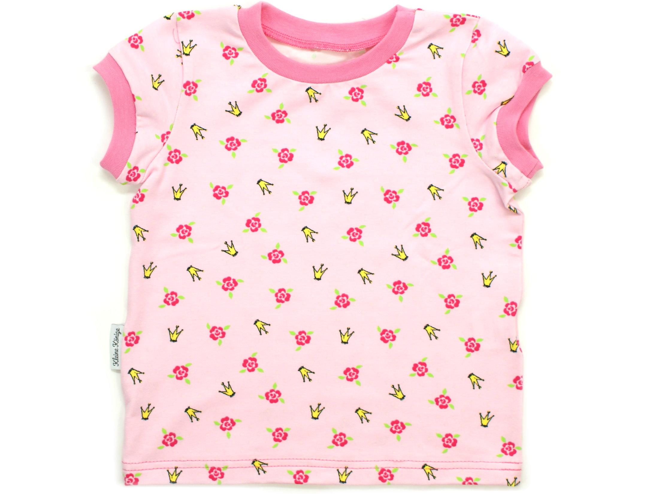 "Kinder T-Shirt Blumen ""Krönchen"" pink rosa"