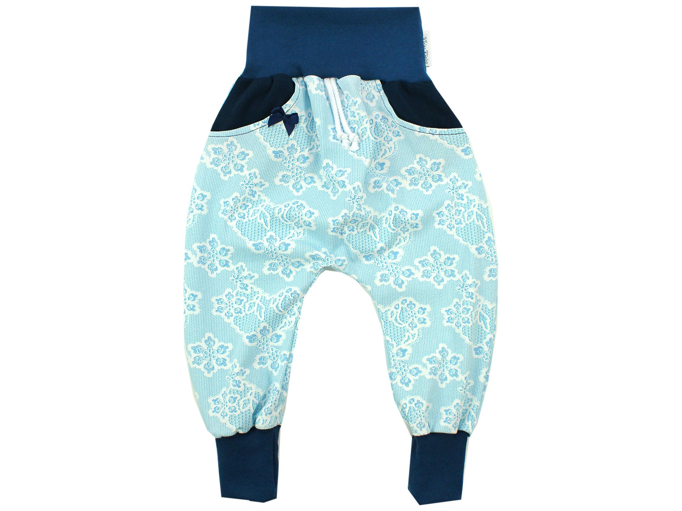 """Pumphose mit Tasche """"Lacy Blue"""" hellblau weiß"""