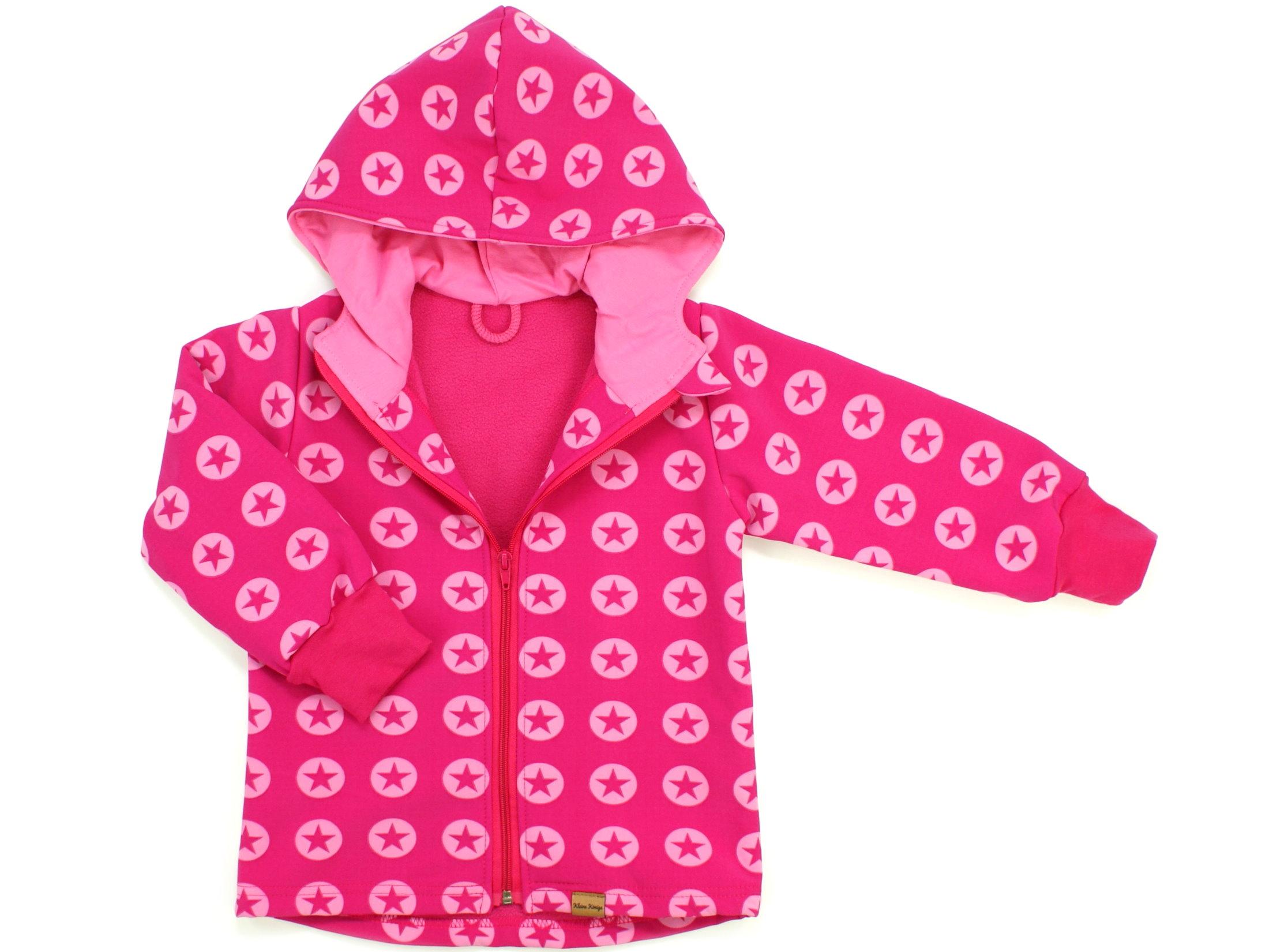 """Kinder Softshell-Jacke Sterne """"Sternenkreis"""" pink"""