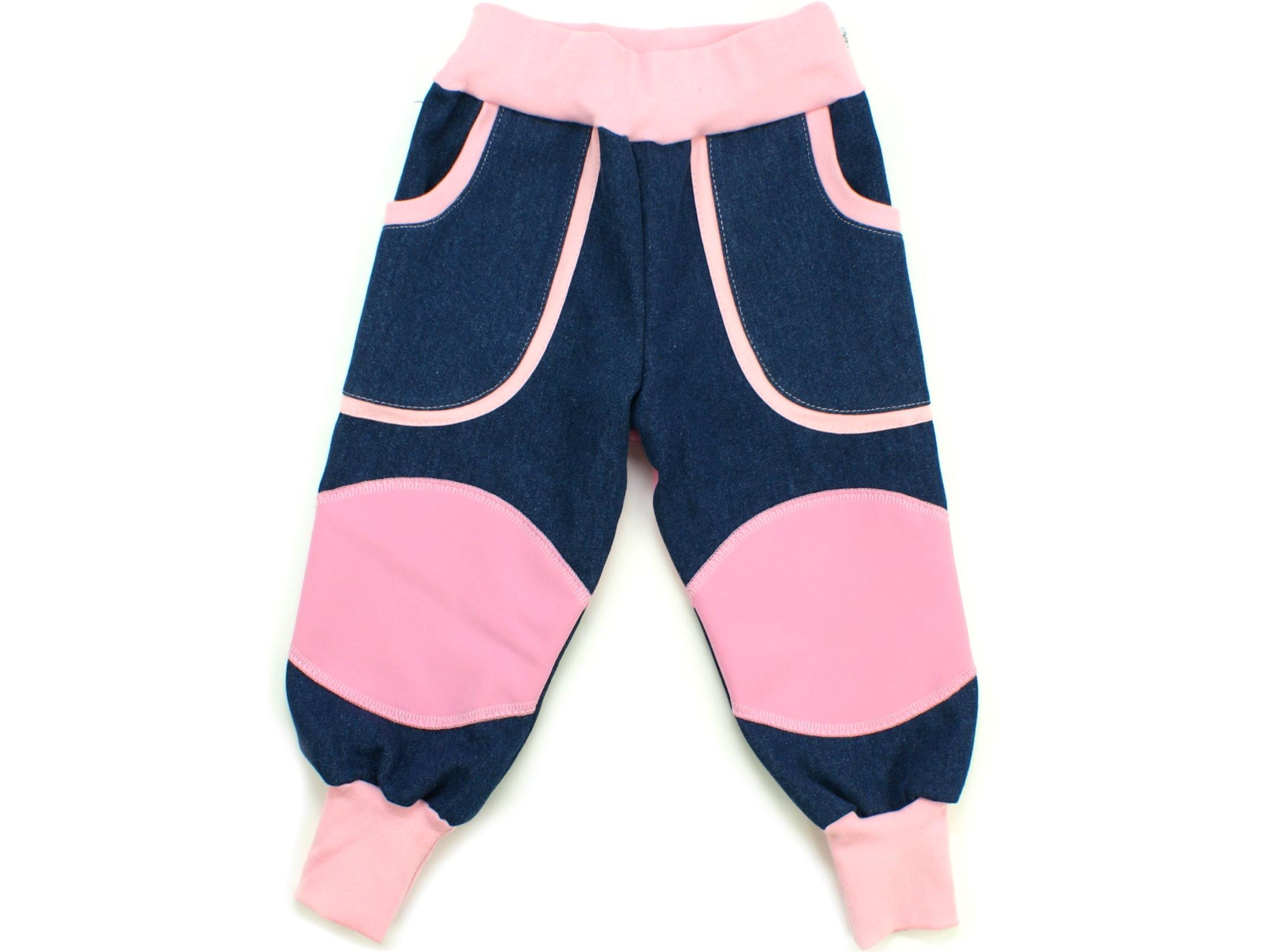 """Kinder Outdoorhose Jeans Räuberhose  """"Uni"""" rosa"""