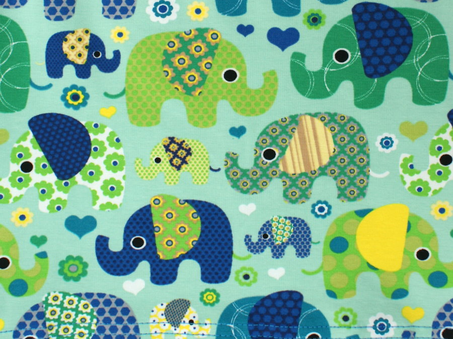 "Baby Pumphose Babyhose ""Elefantenparty"" türkis"