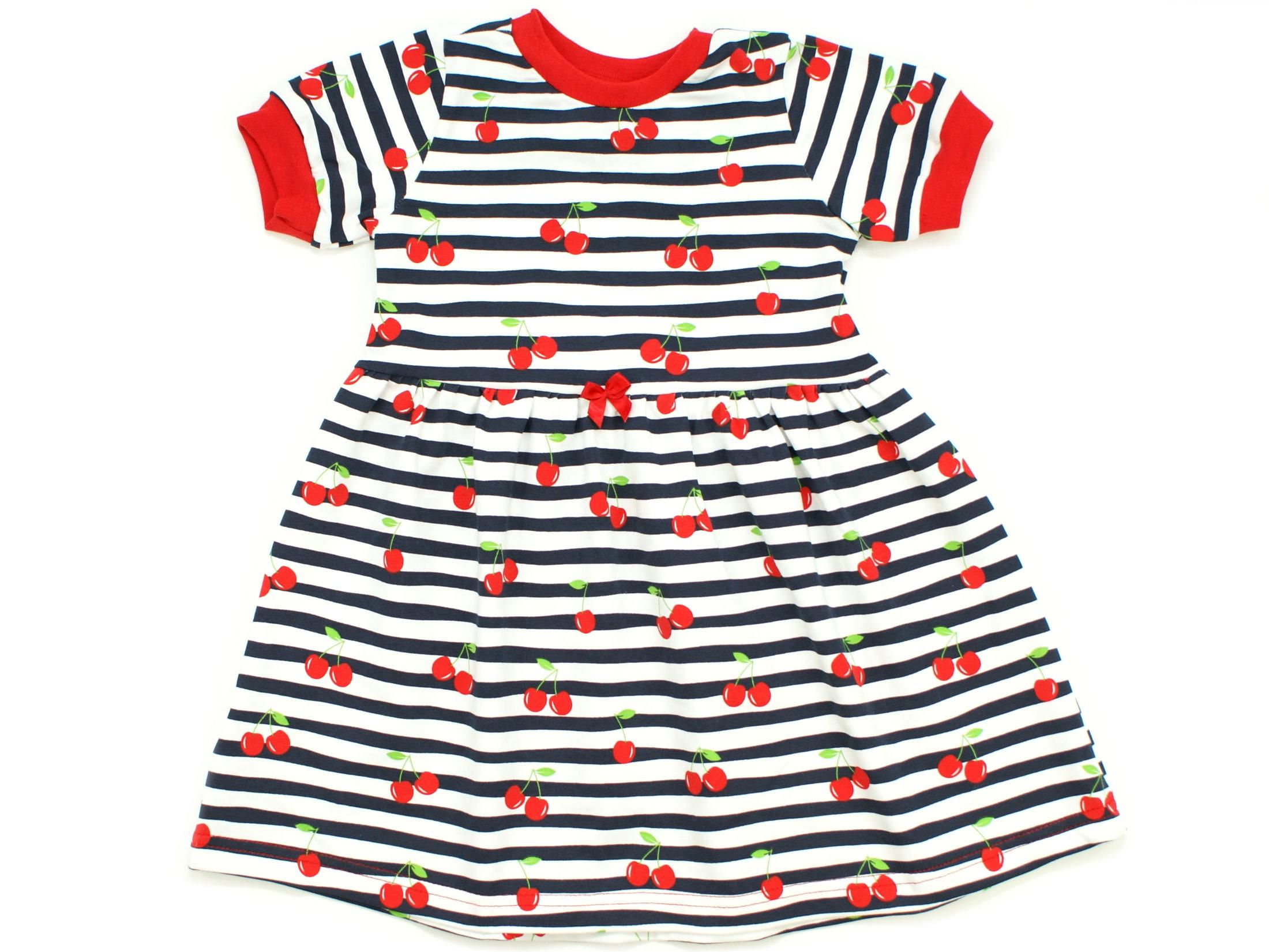 """Kinderkleid Tunika Kirschen """"Cherry Dream"""" marineblau weiß"""