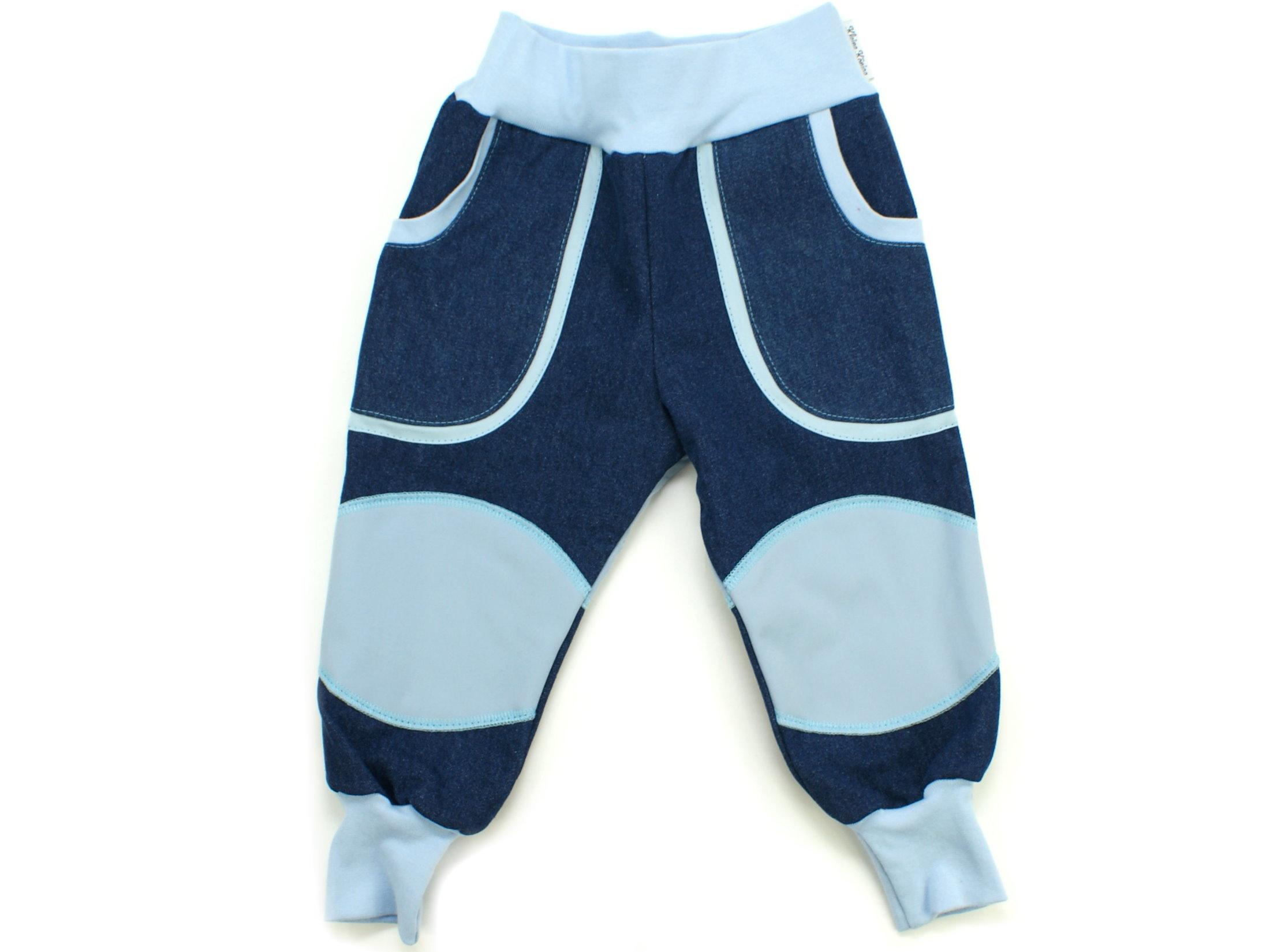 """Kinder Outdoorhose Jeans Räuberhose  """"Uni"""" hellblau"""