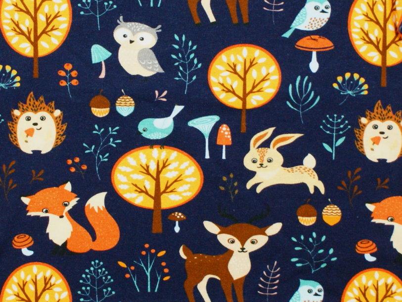 "Baby Pumphose Fuchs, Reh ""Forest Friends"" marineblau"