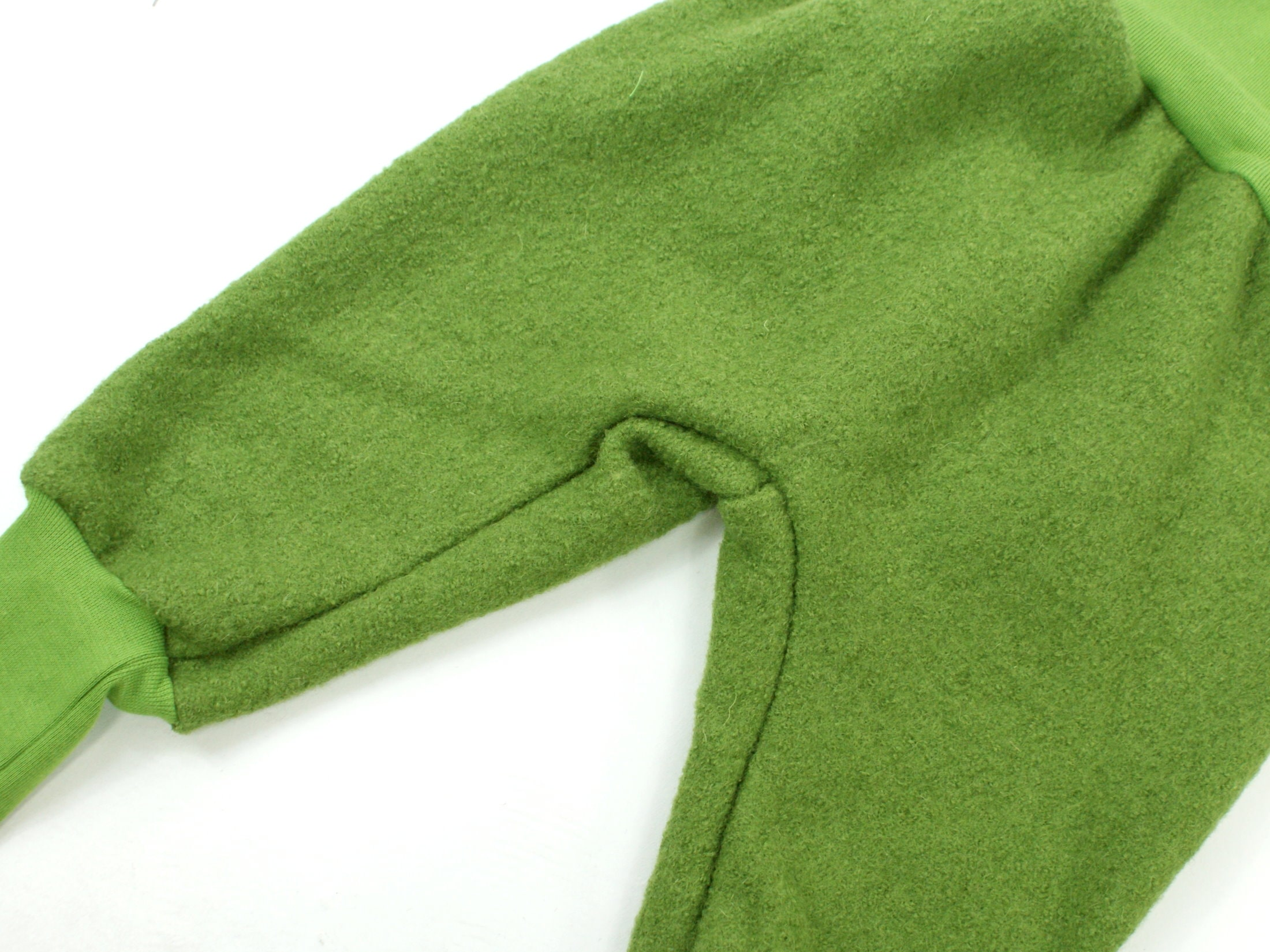 Walkhose Pumphose aus Wollwalk in Grün