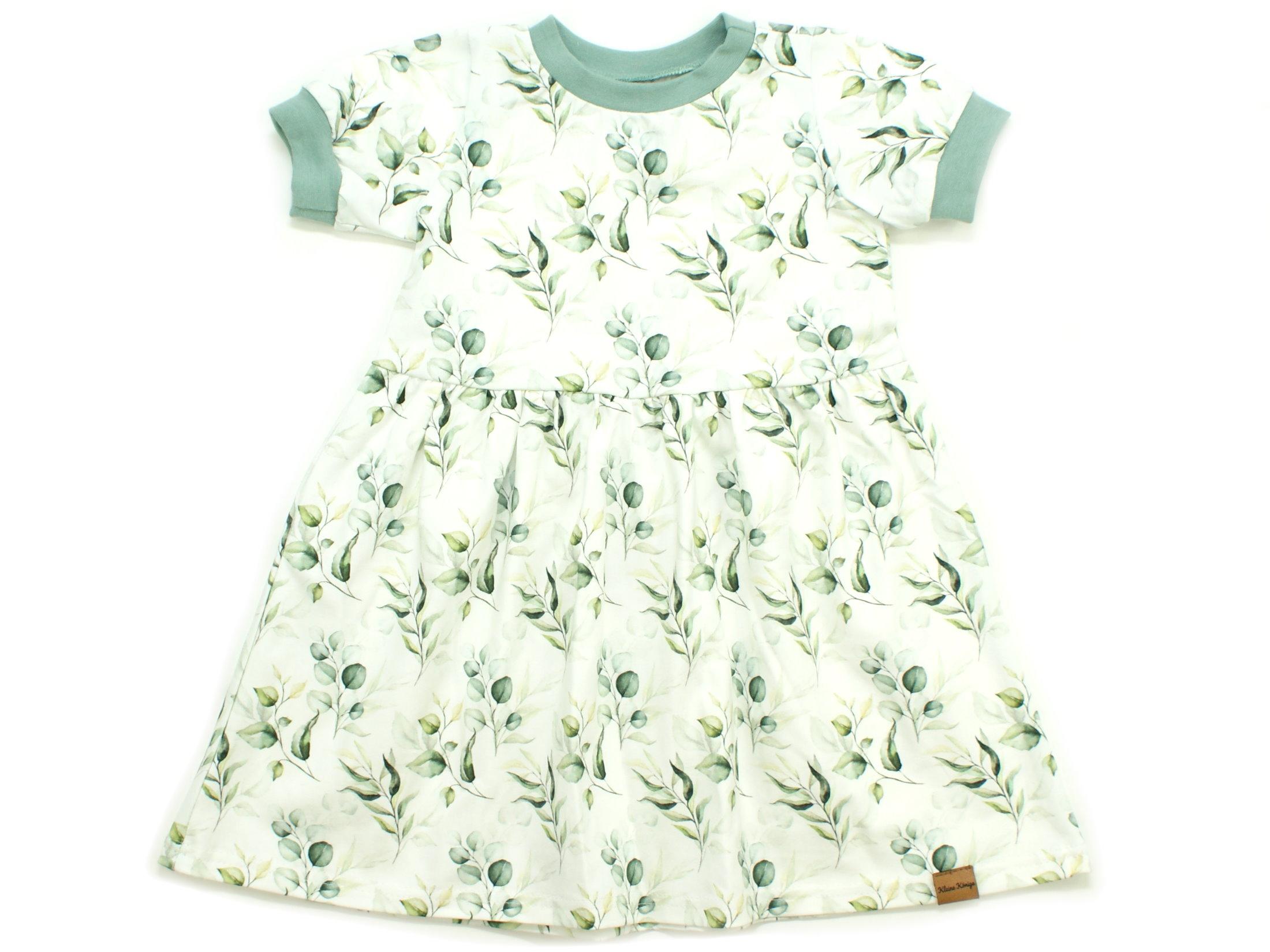 """Kinderkleid Tunika """"Eukalyptus"""" mint weiß"""