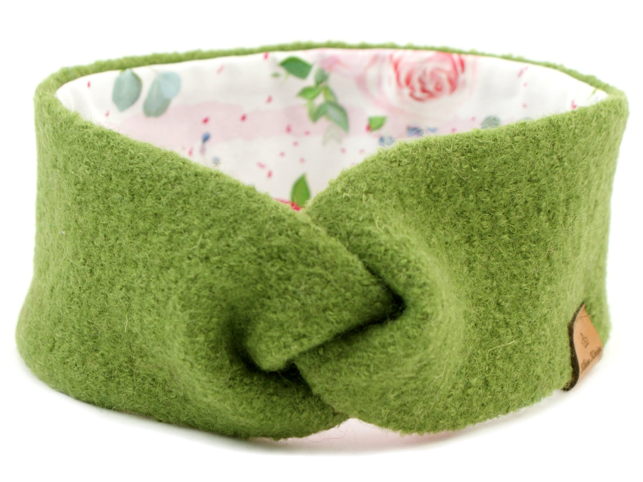 Walk Kinder Stirnband Haarband aus Wollwalk in Grün