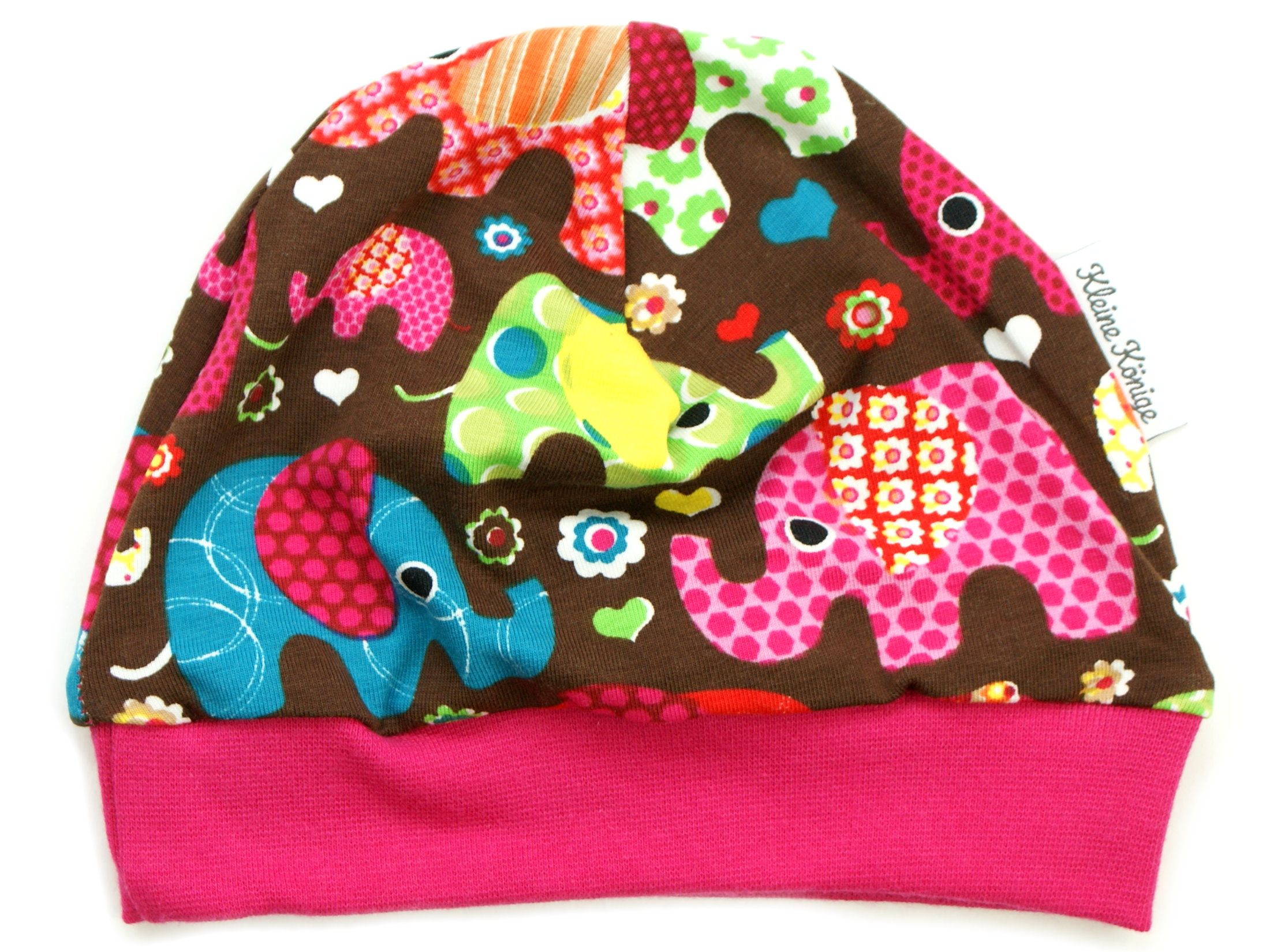 "Kindermütze ""Elefantenparty"" pink"