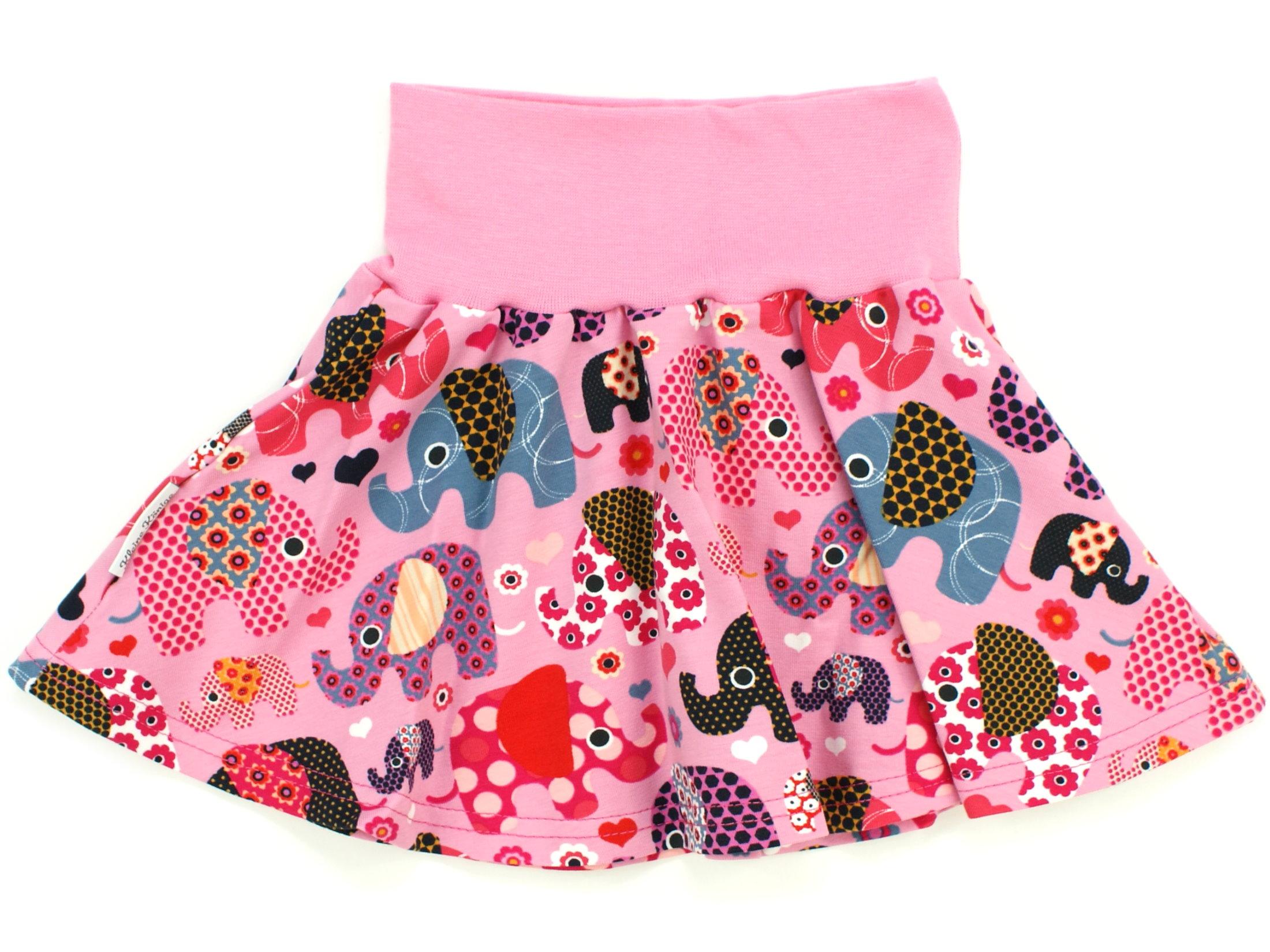 "Kinder Jerseyrock ""Elefantenparty"" beere rosa"