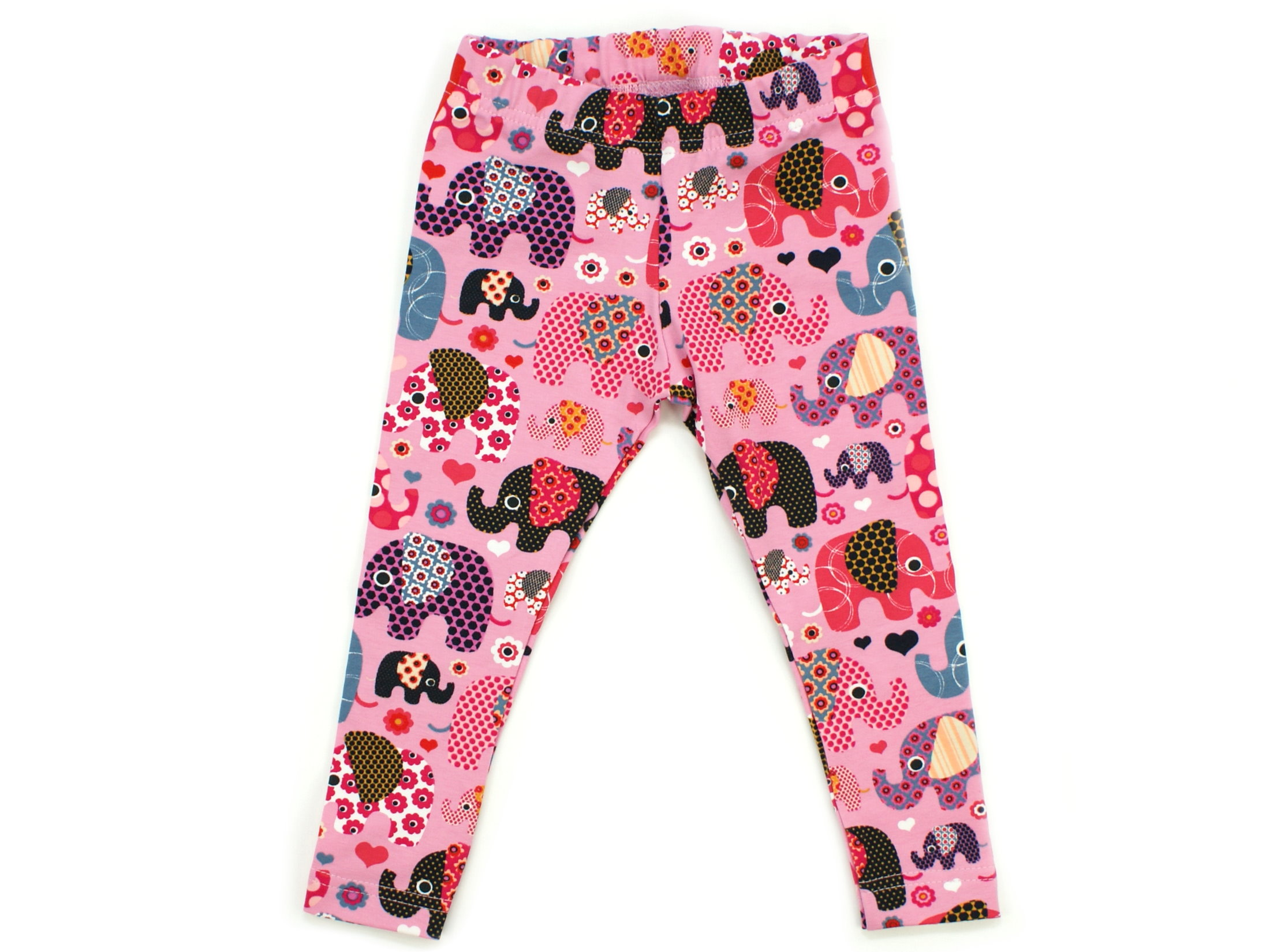 "Kinder Leggings ""Elefantenparty"" beere rosa"