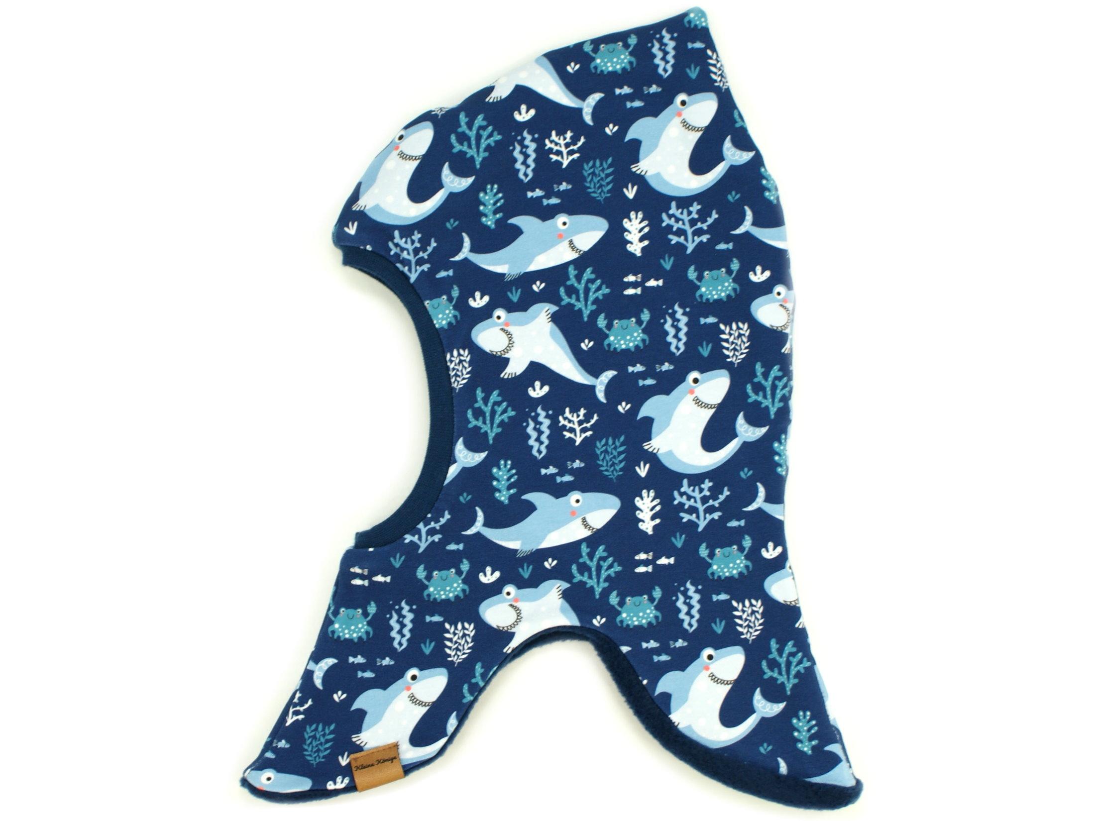 "Kinder Schlupfmütze Hai ""Lucky Shark"" marineblau"