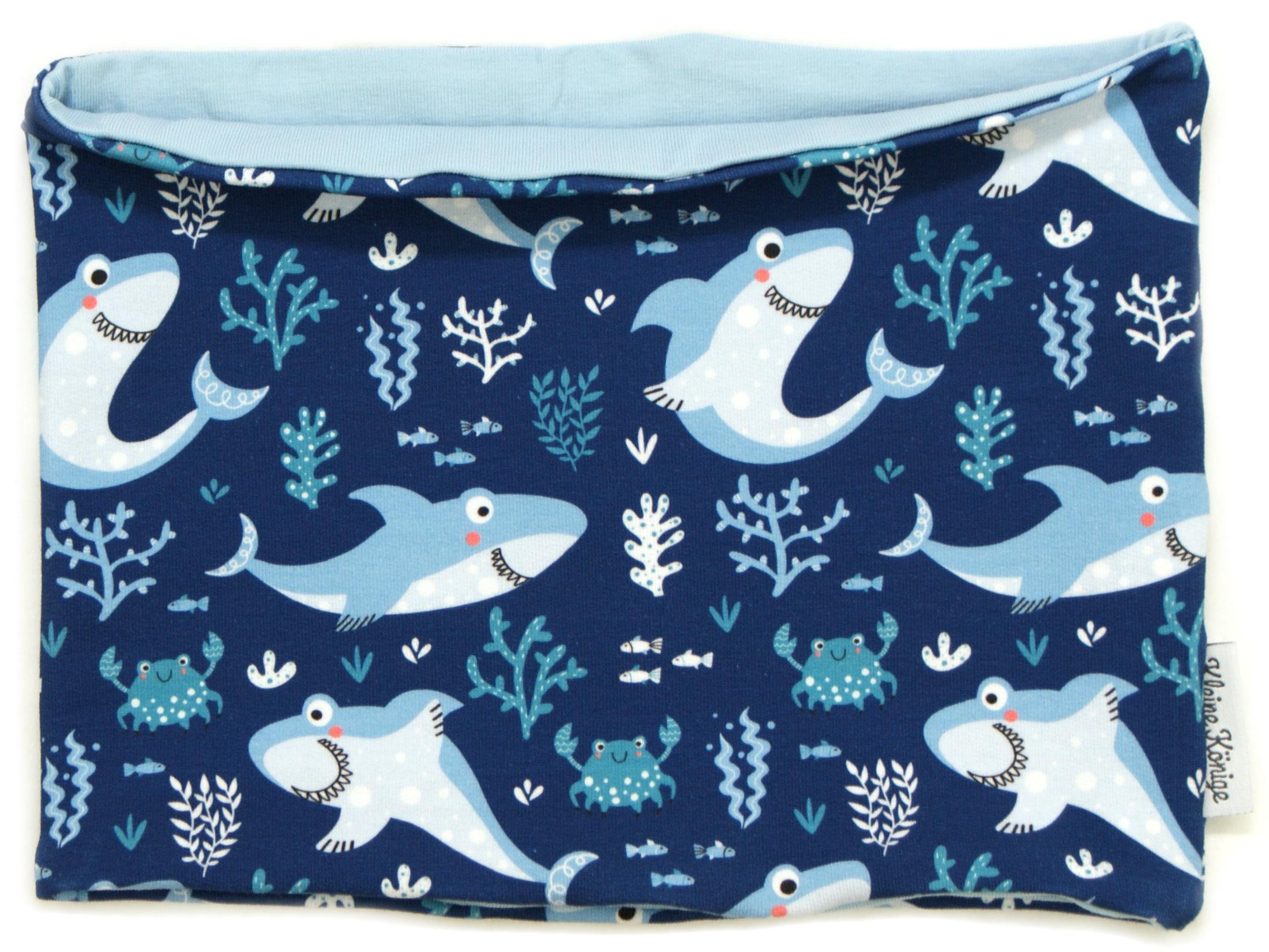 "Kinderloop Schal Hai ""Lucky Shark"" marineblau"