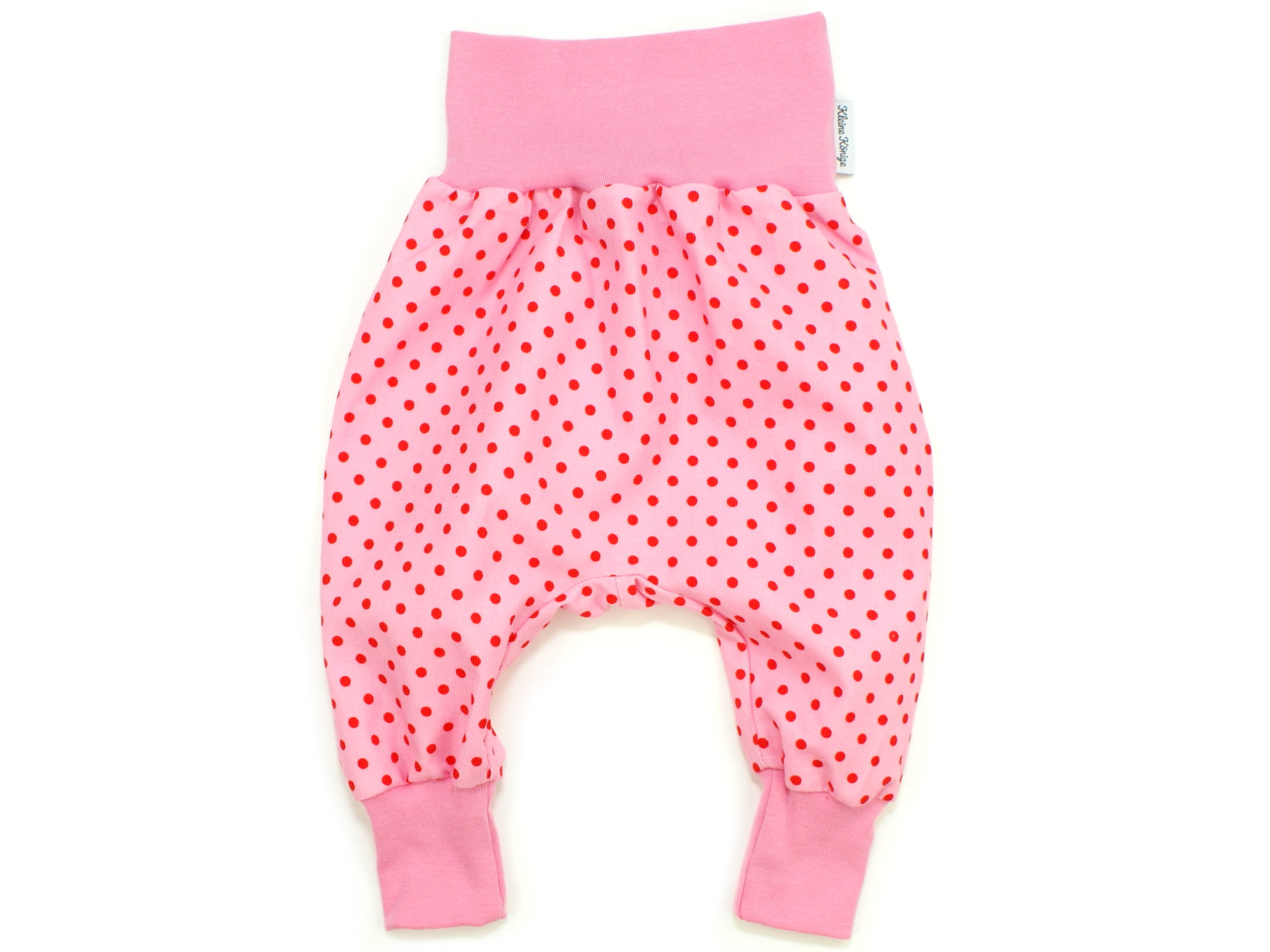 "Baby Pumphose aus Babycord ""Dots"" rosa rot"
