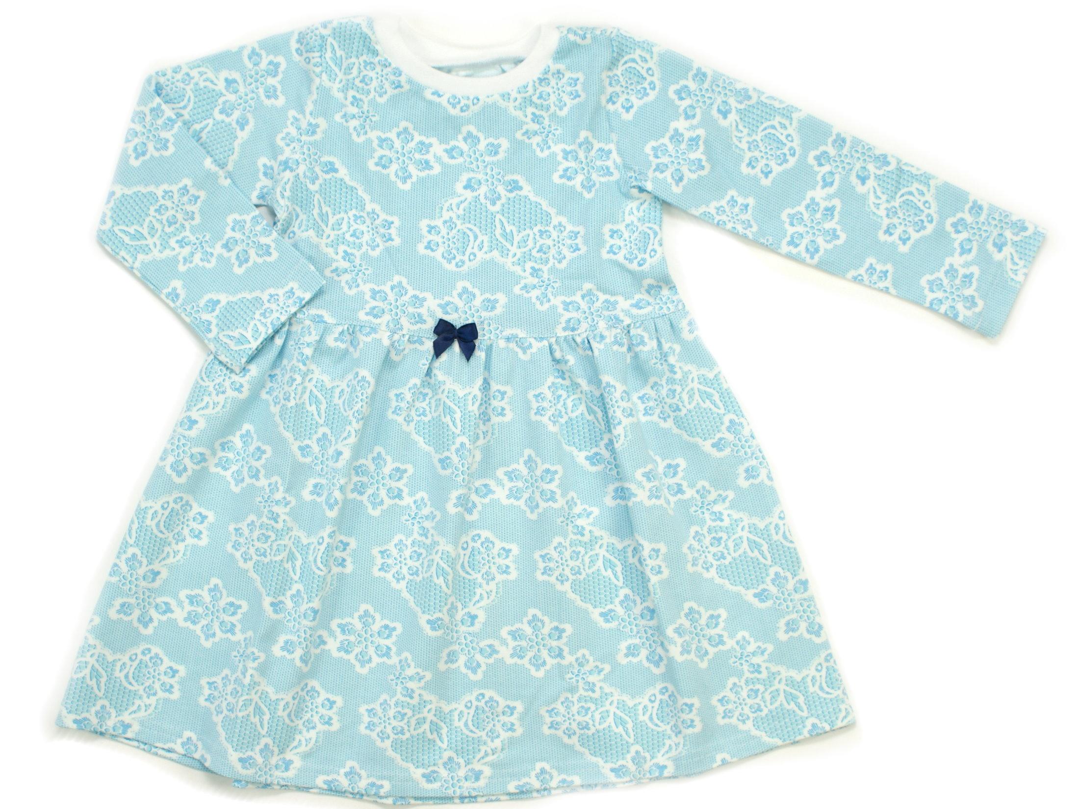 """Kinderkleid Tunika """"Lacy Blue"""" hellblau weiß"""