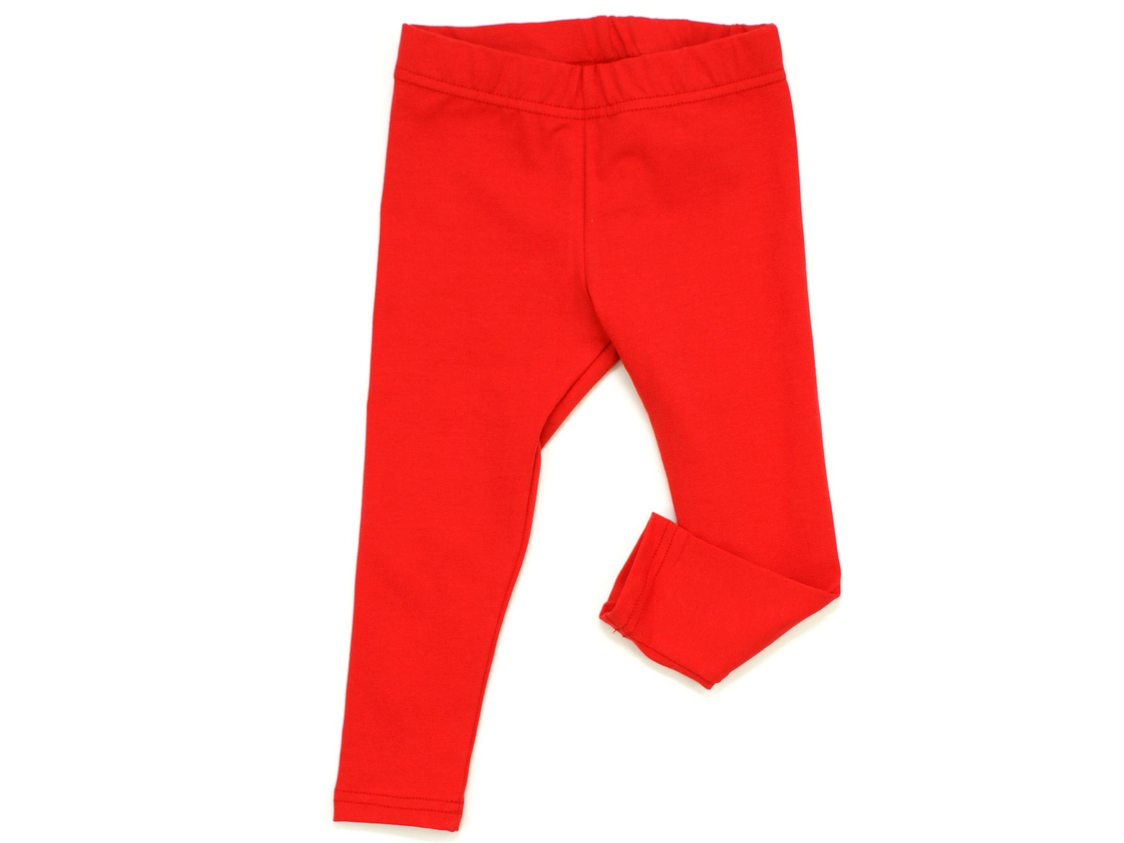 Kinder Leggings uni rot
